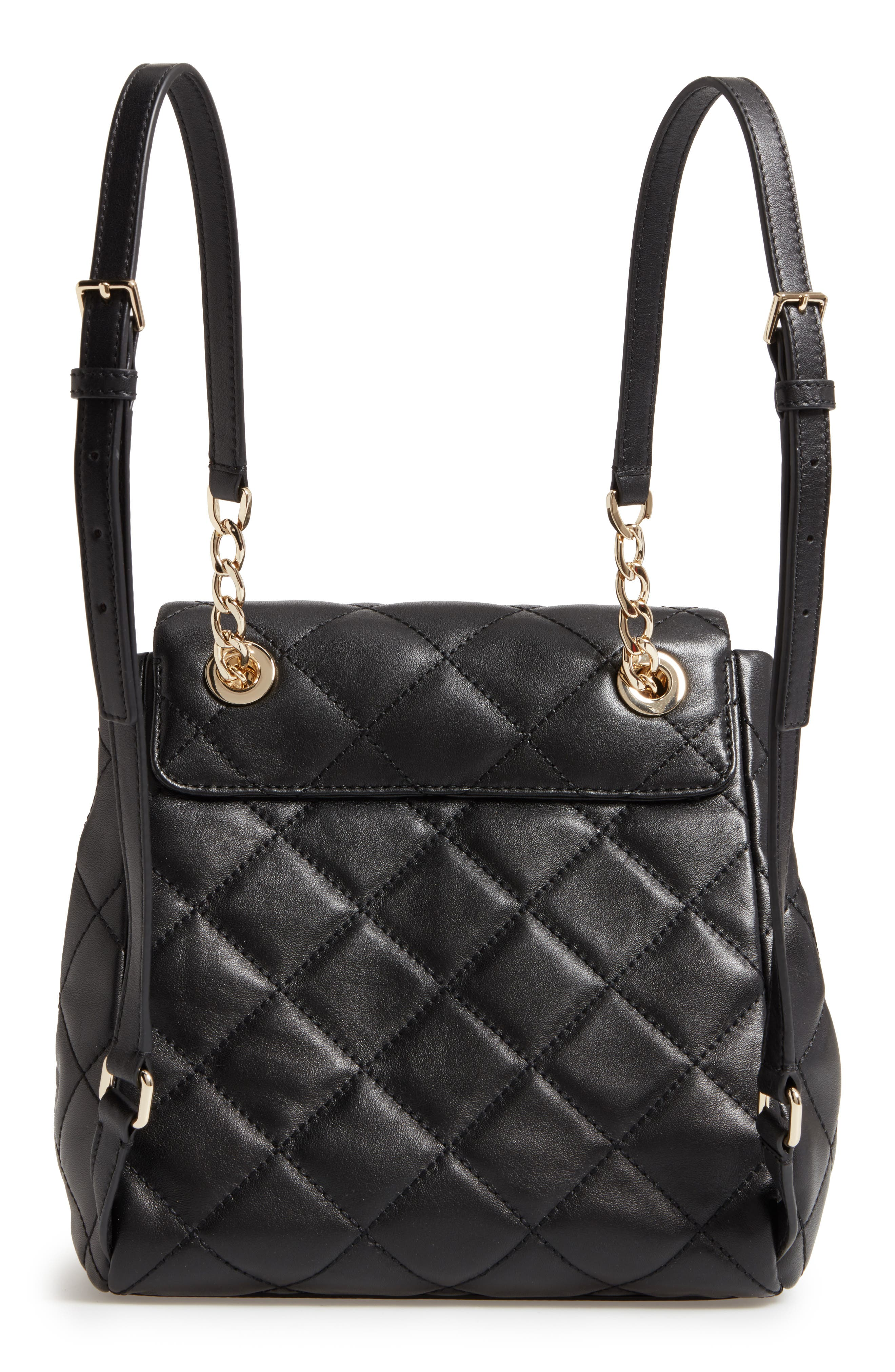 emerson place - martina quilted leather backpack,                             Alternate thumbnail 2, color,                             Black