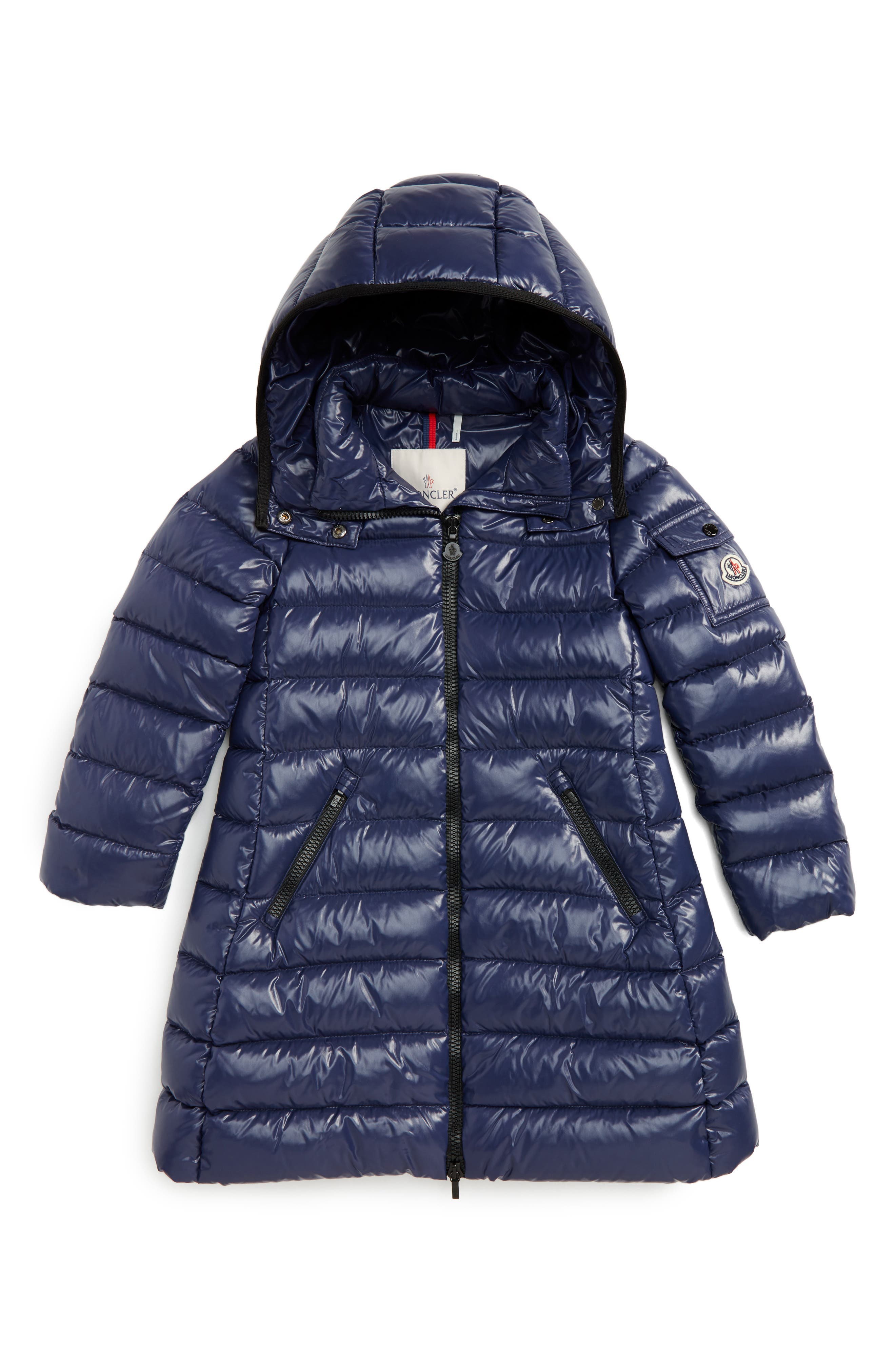 Moncler Moka Long Hooded Waterproof Down Jacket (Little Girls & Big Girls)