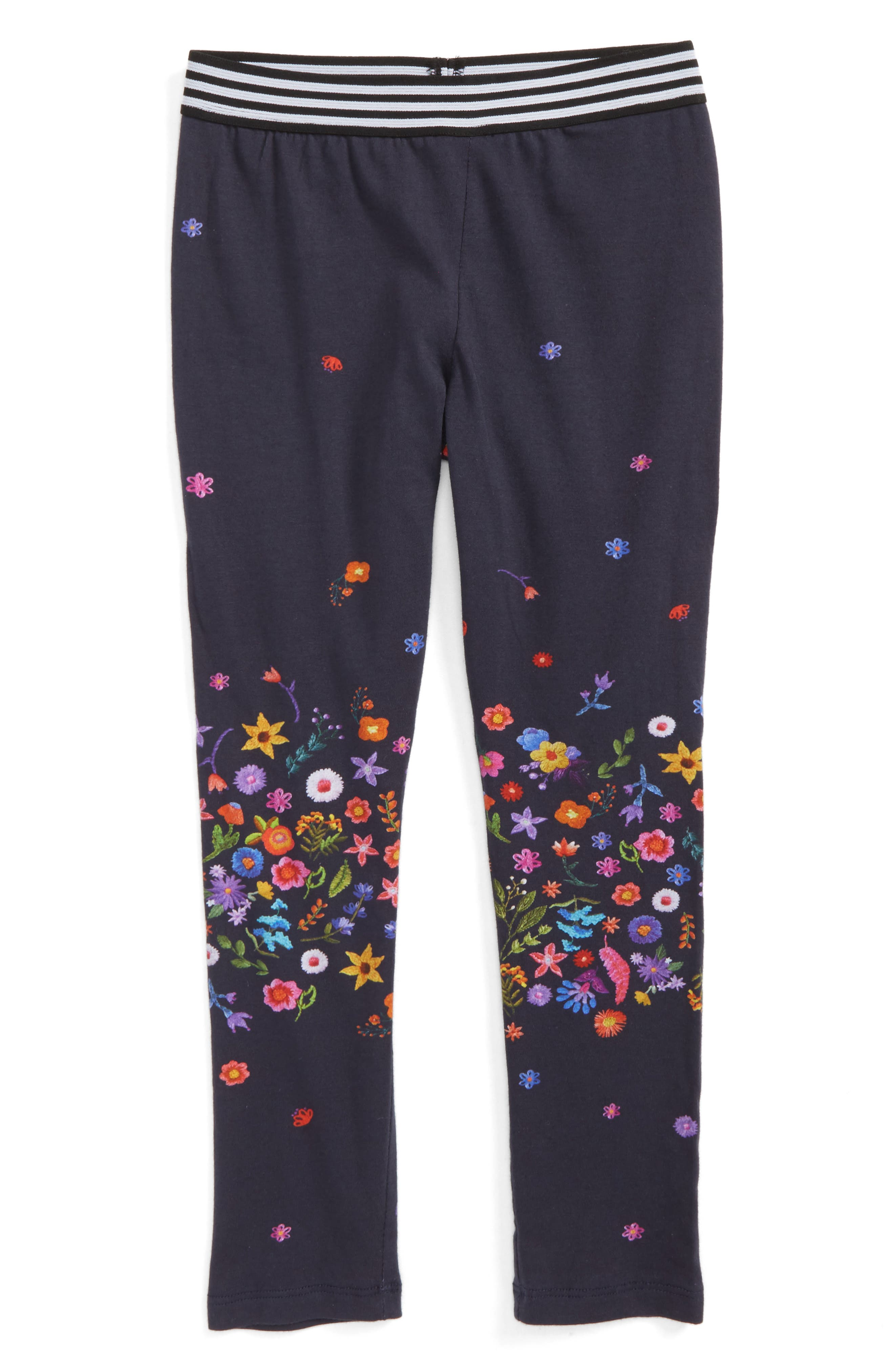 Floral Print Leggings,                         Main,                         color, Navy
