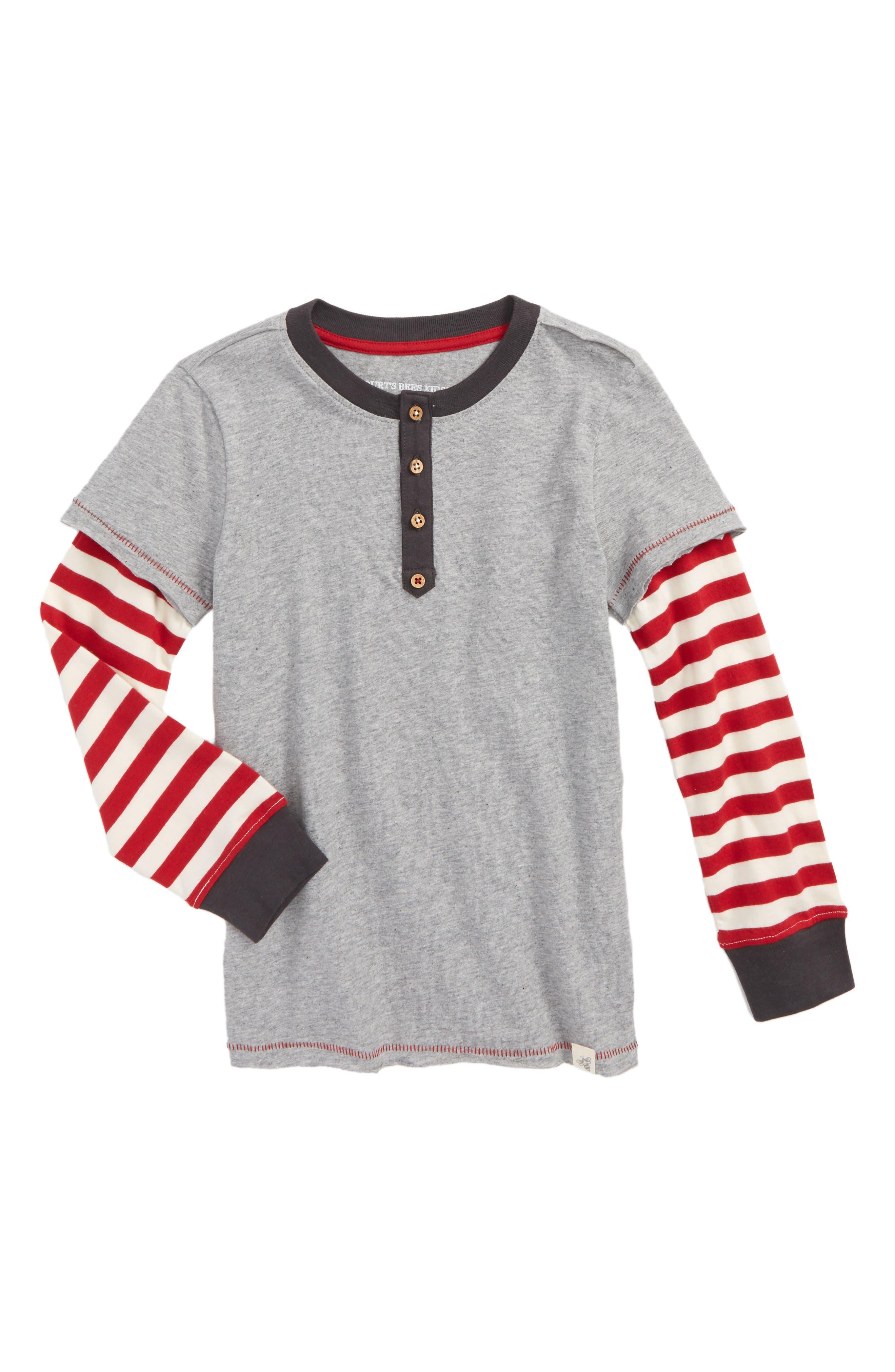 Burt's Bees Baby 2Fer Organic Cotton Henley T-Shirt (Toddler Boys & Little Boys)