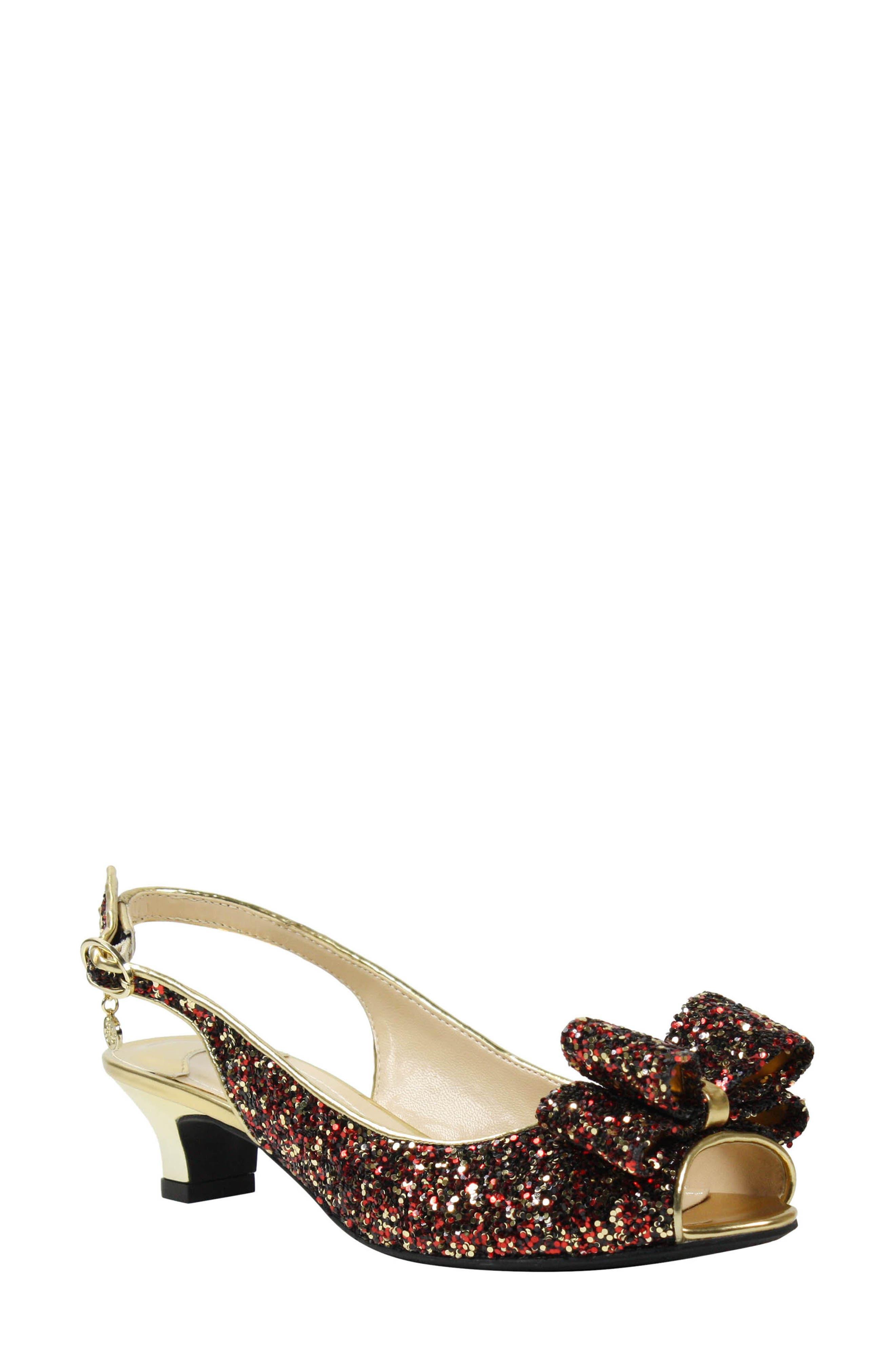 J. Reneé Landan Bow Slingback Sandal (Women)