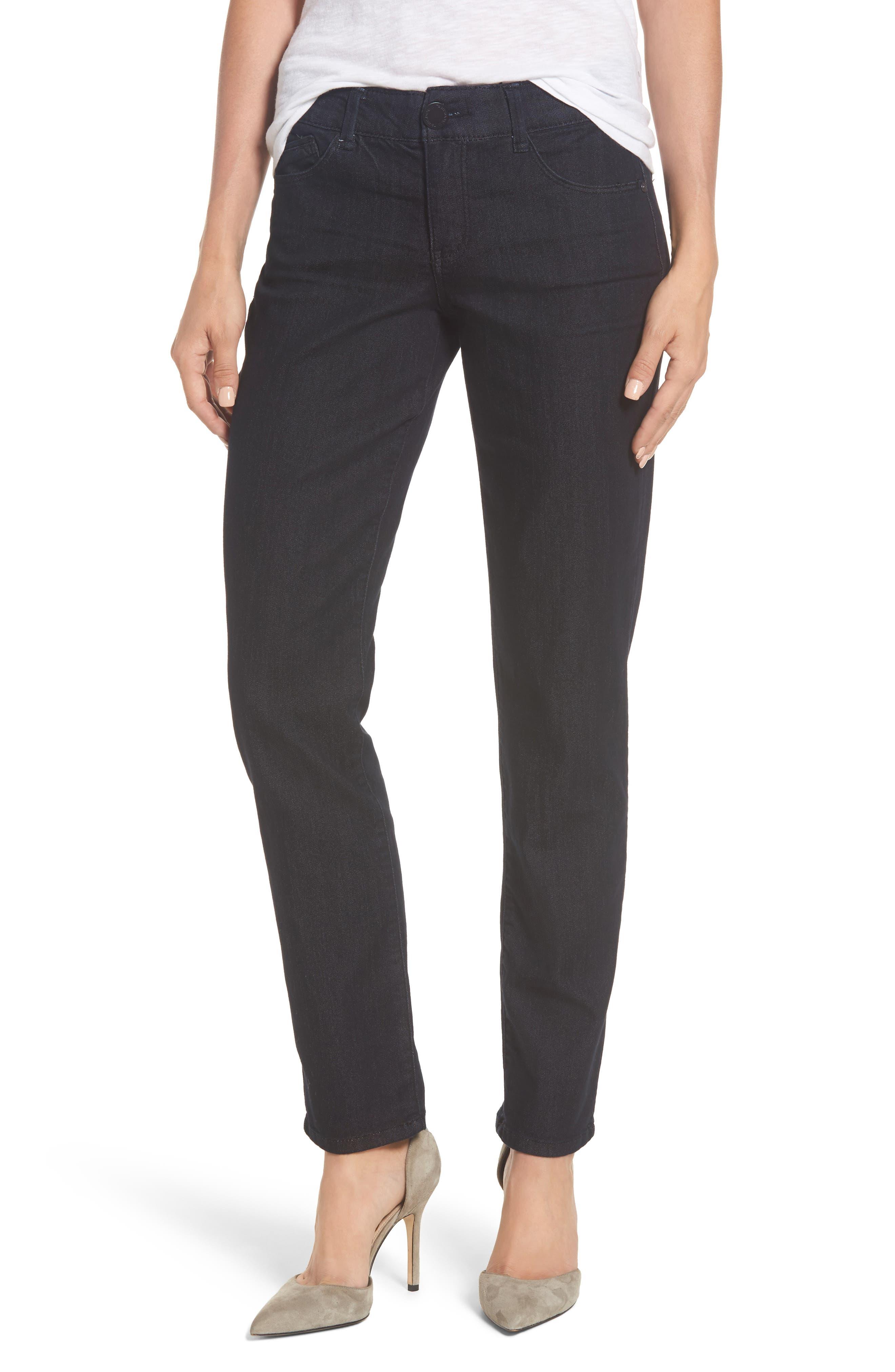 Ab-solution Straight Leg Jeans,                         Main,                         color, Indigo/ Indigo