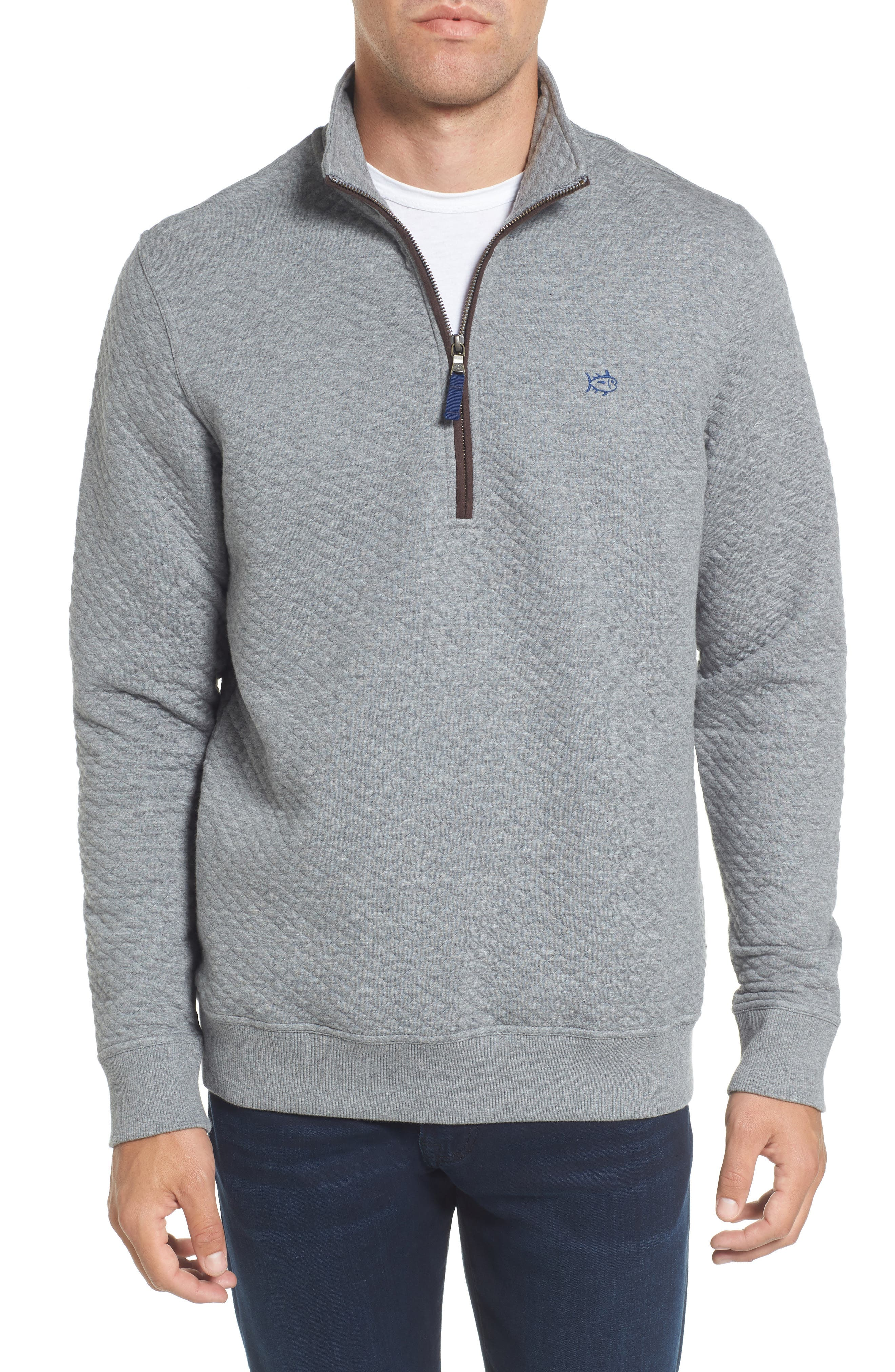 Southern Tide Sundown Quilted Quarter Zip Pullover