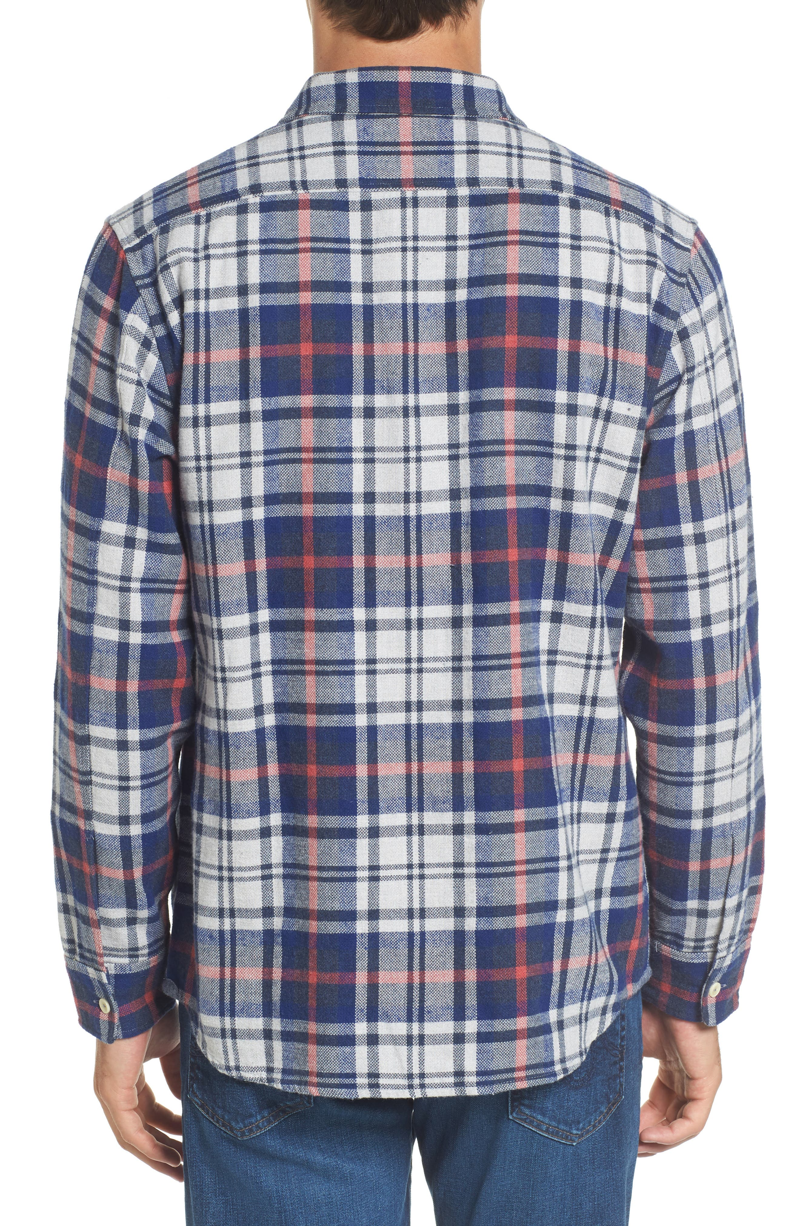 Alternate Image 2  - Grayers Bisney Modern Fit Texture Flannel Sport Shirt