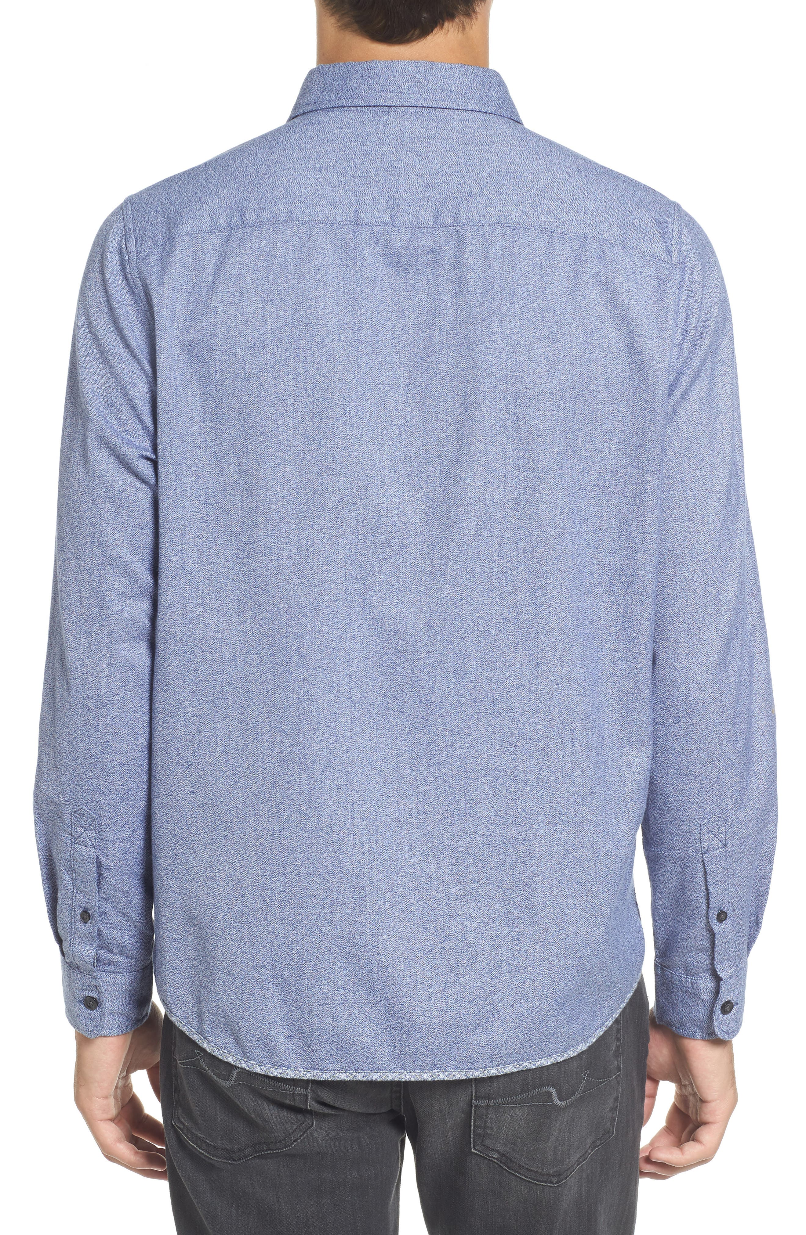 Jaspe Trim Fit Heather Sport Shirt,                             Alternate thumbnail 2, color,                             Blue Ink