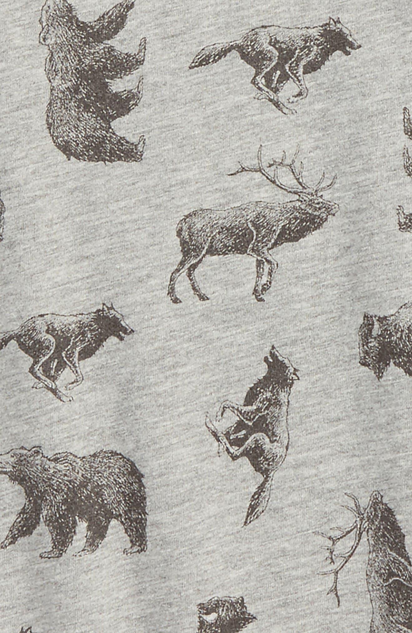 Alternate Image 2  - Peek Animal Print Raglan T-Shirt (Toddler Boys, Little Boys & Big Boys)