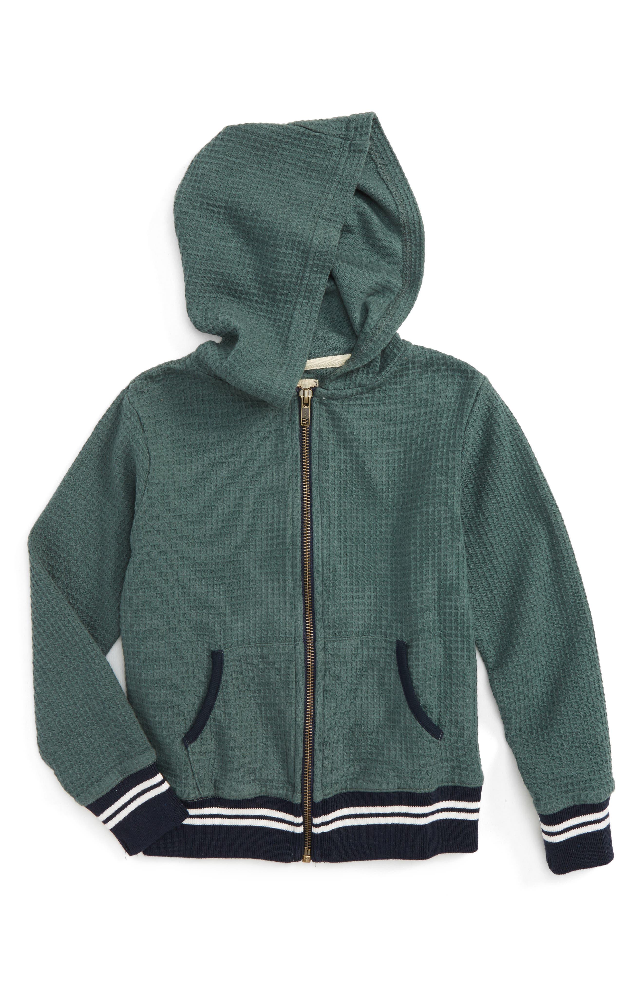 Jayden Thermal Hoodie,                         Main,                         color, Green