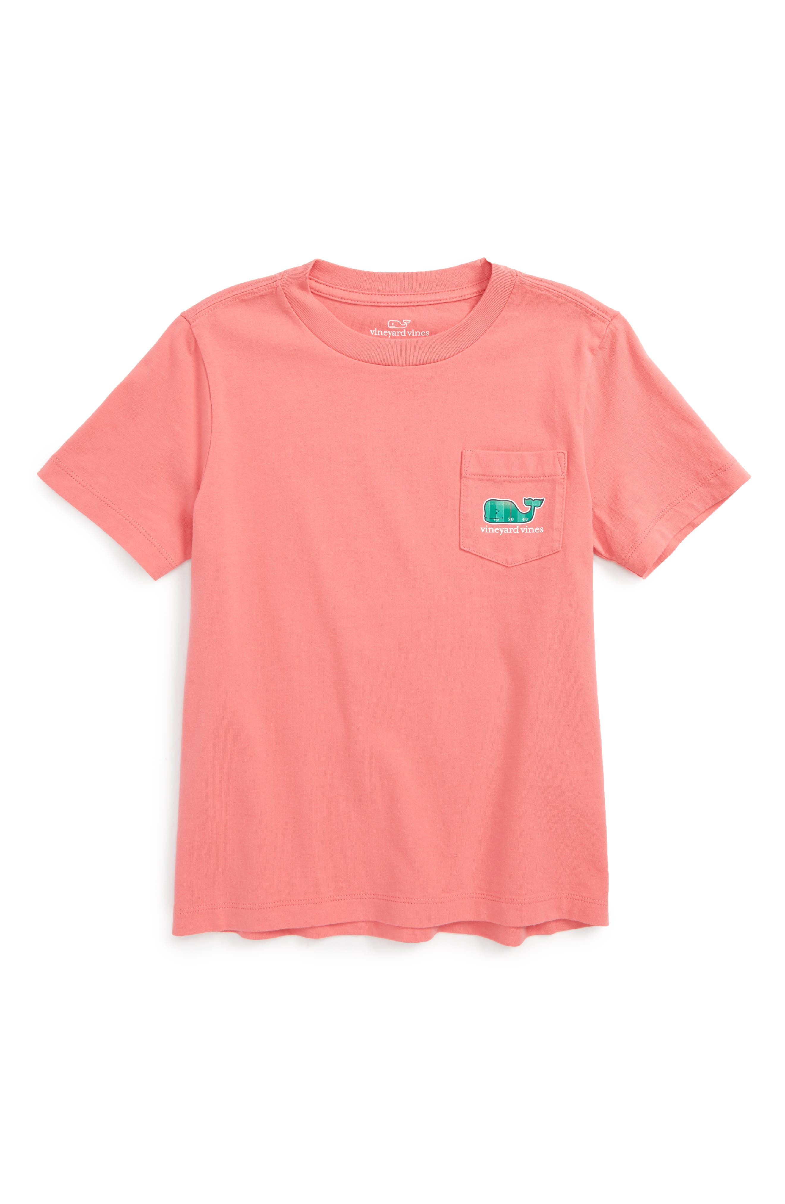 vineyard vines Football Field Whale Pocket T-Shirt (Toddler Boys & Little Boys)