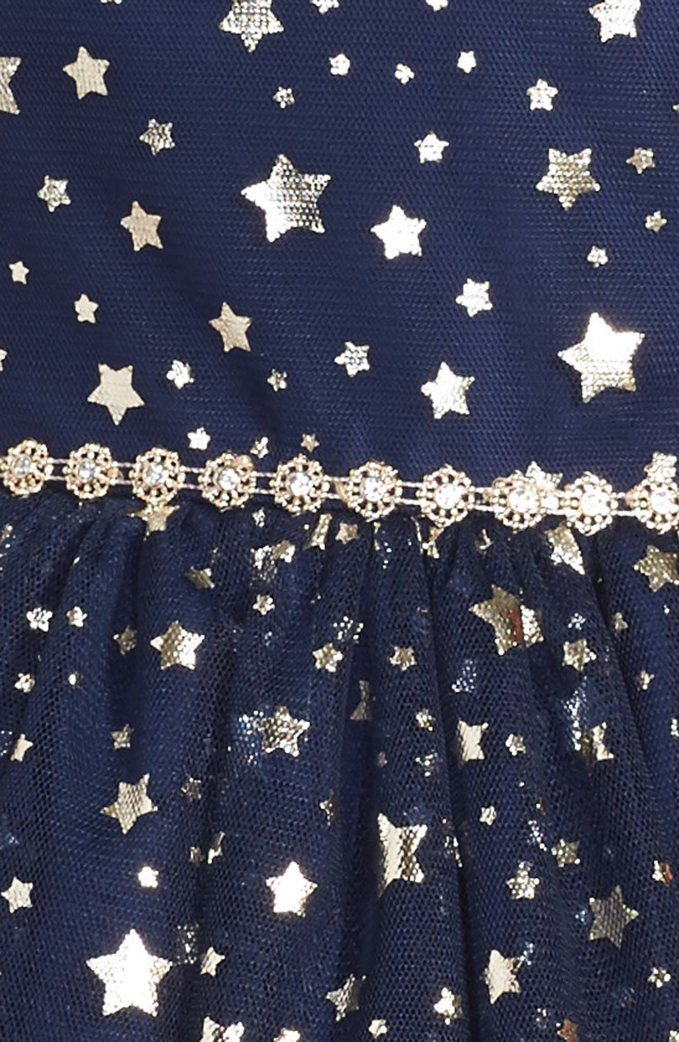 Alternate Image 3  - Pippa & Julie Metallic Stars Party Dress (Toddler Girls, Little Girls & Big Girls)