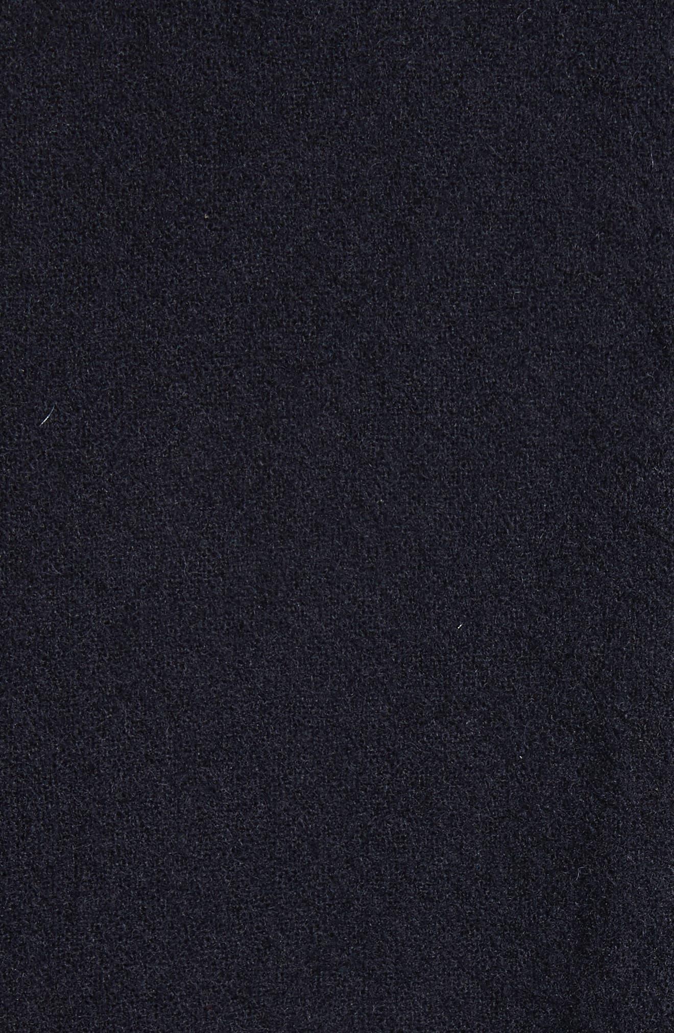Elbow Sleeve Crop Jacket,                             Alternate thumbnail 5, color,                             Navy