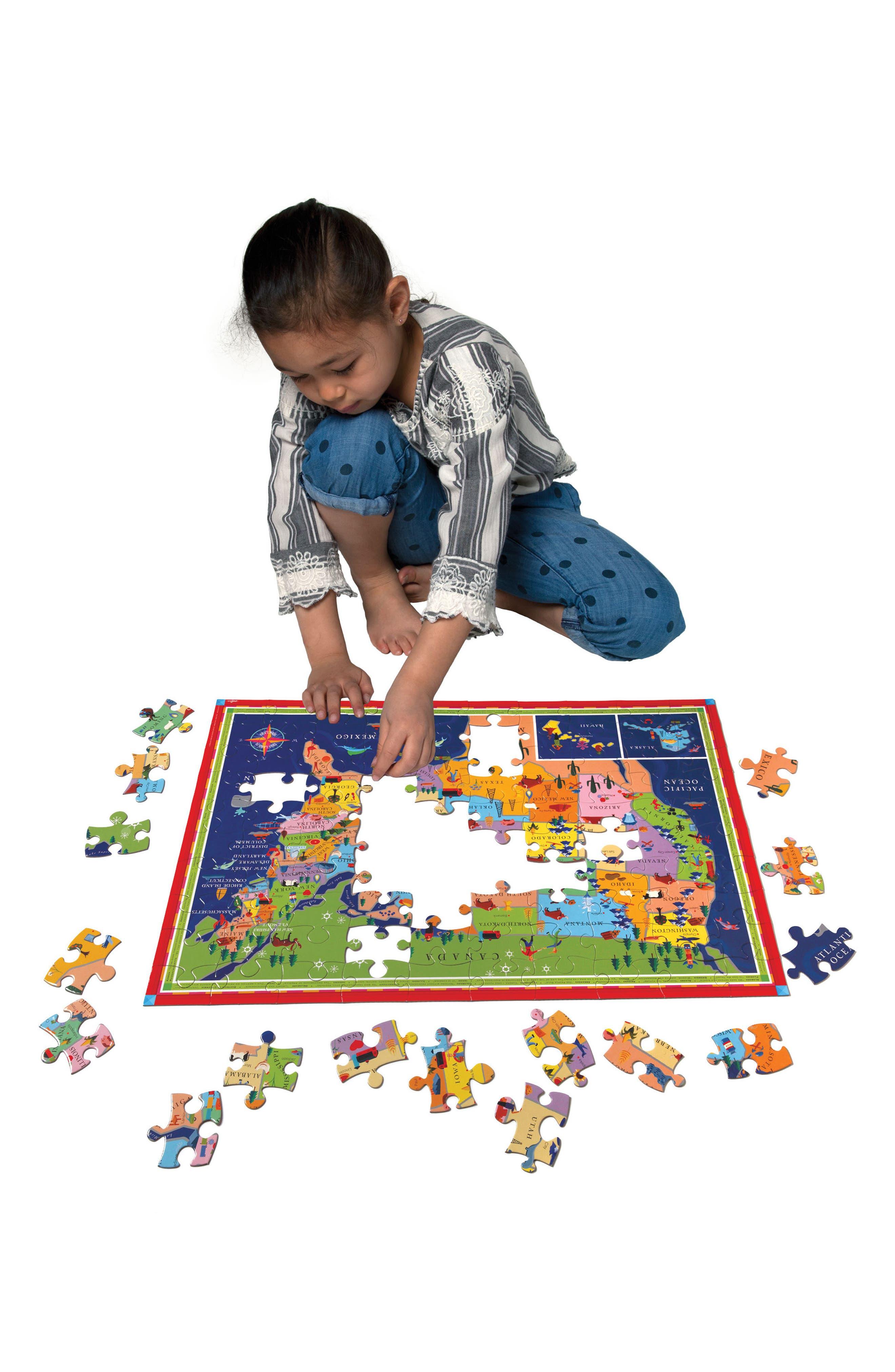 Alternate Image 2  - eeBoo USA Jigsaw Puzzle