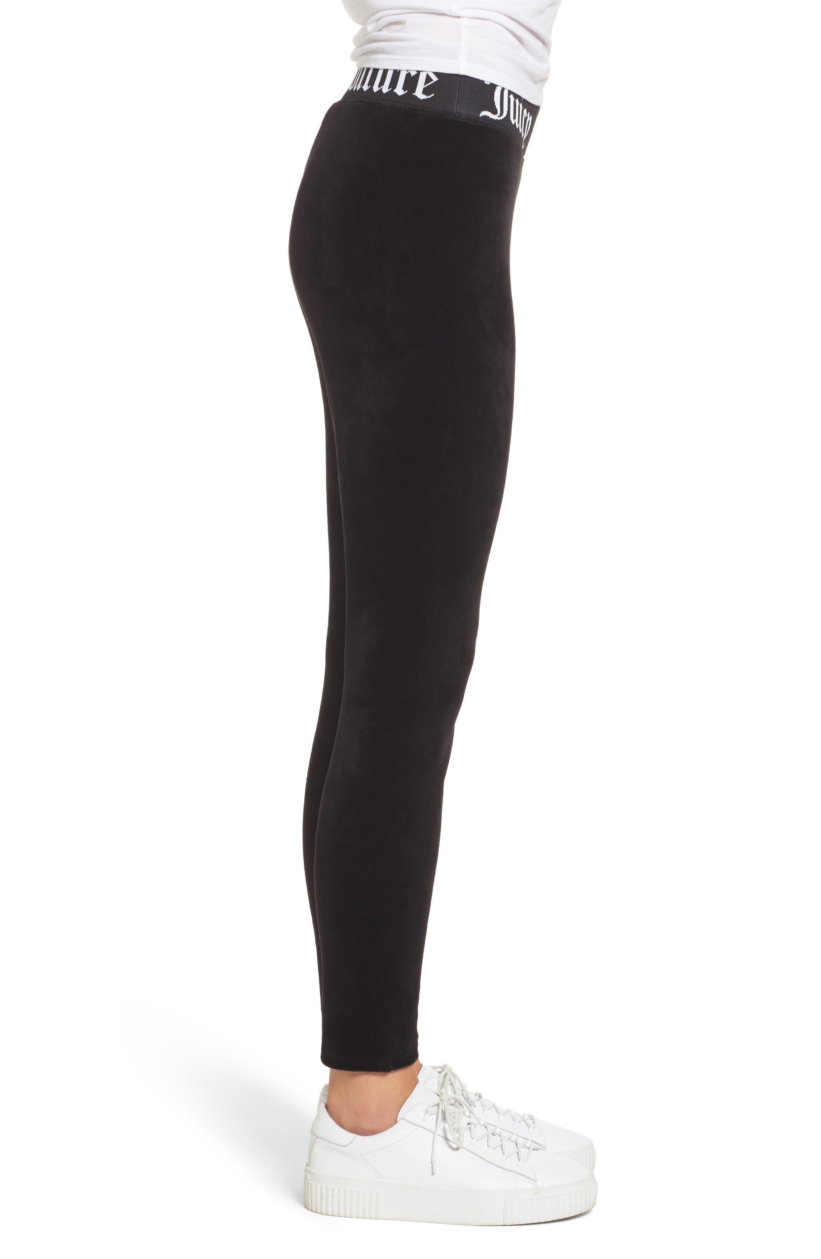 Alternate Image 3  - Juicy Couture Stretch Velour Leggings