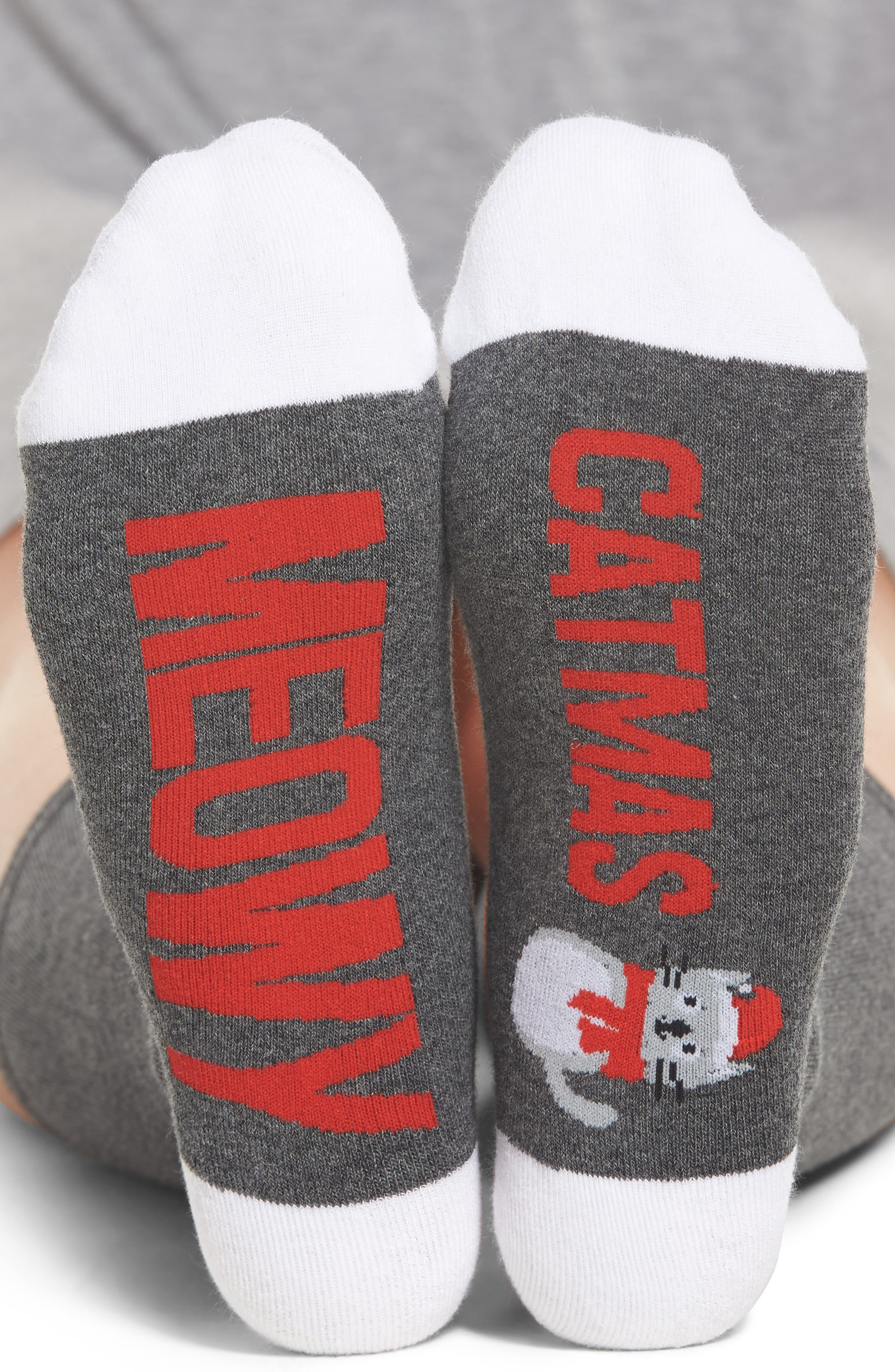 SOCKART Meowy Christmas Crew Socks