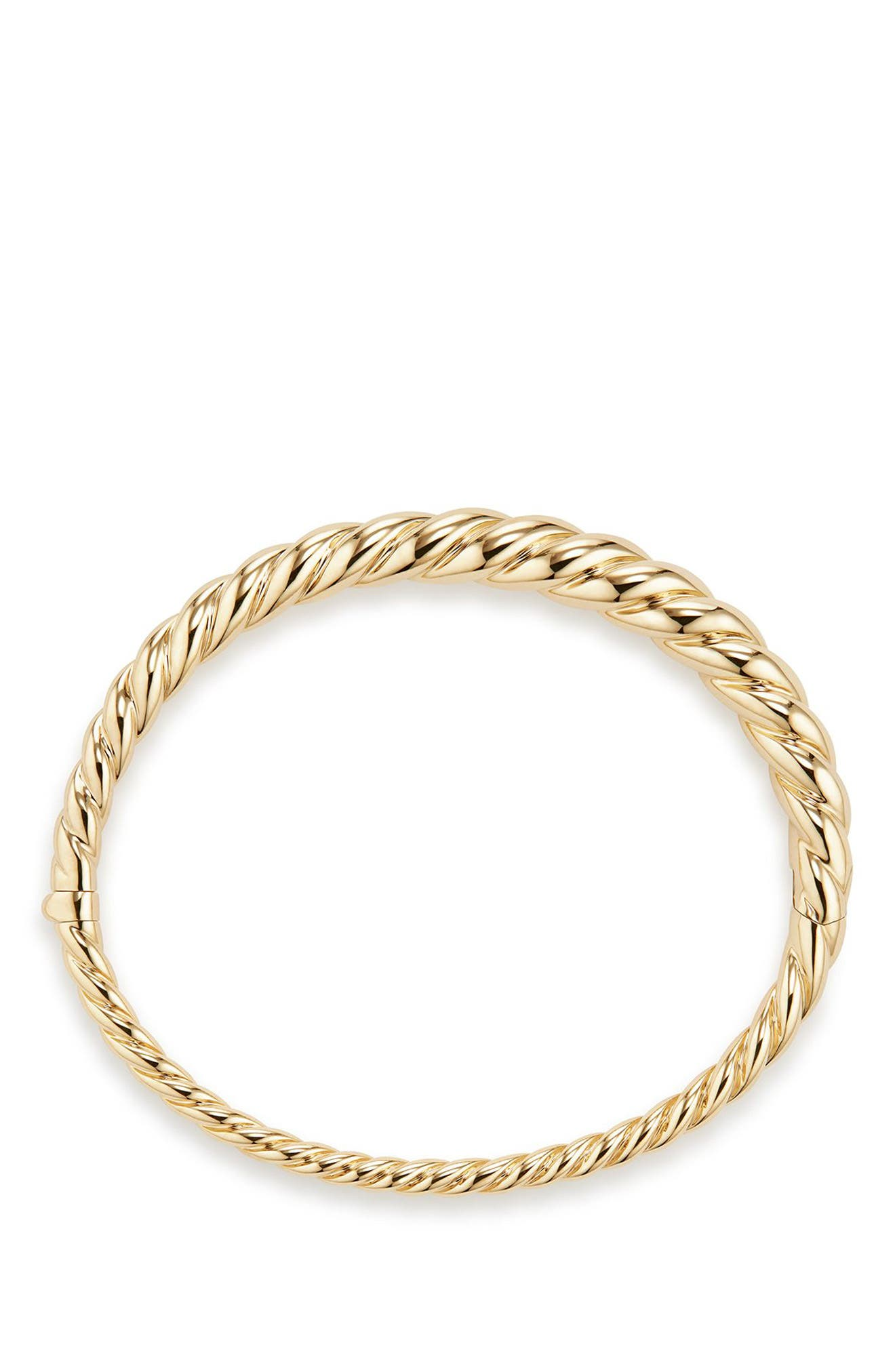 Pure Form Cable Bracelet in 18K Gold, 6mm,                             Alternate thumbnail 2, color,                             Yellow Gold