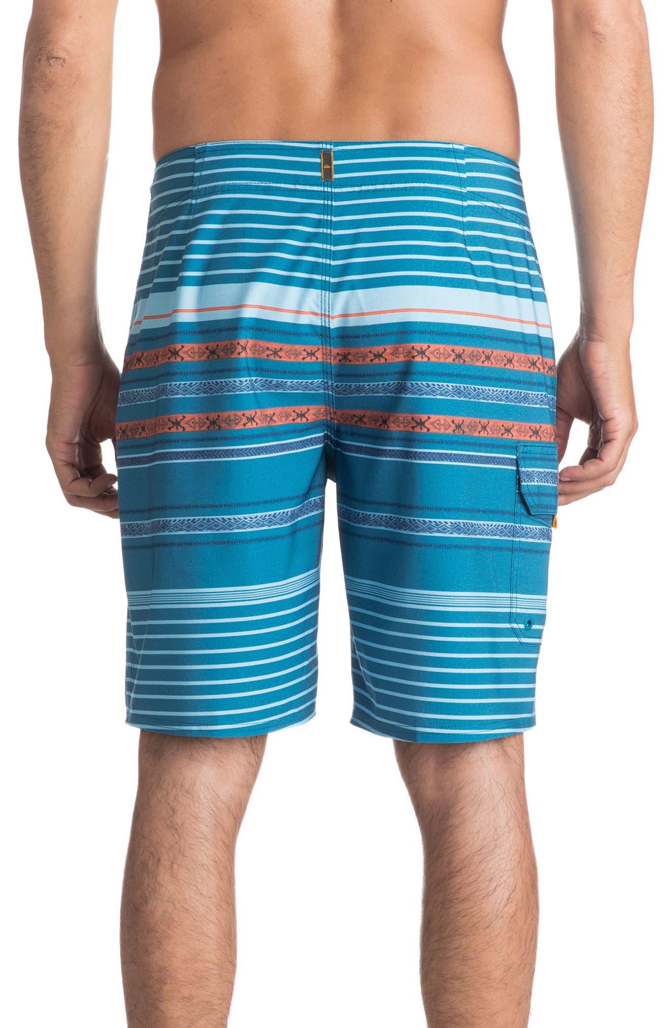 Alternate Image 2  - Quiksilver Waterman Collection Inca Stripe Board Shorts