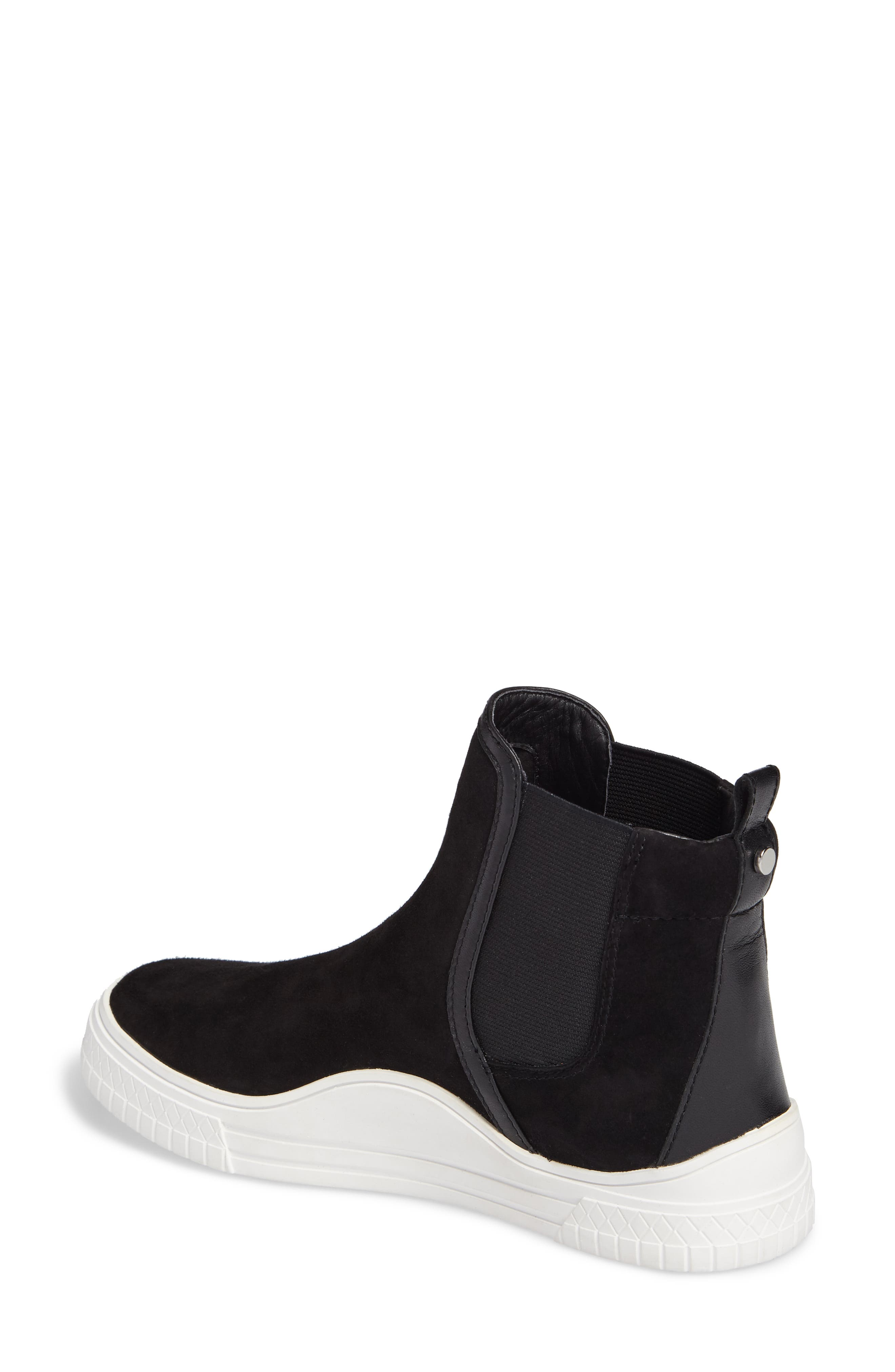 Gage Chelsea Boot,                             Alternate thumbnail 2, color,                             Black Suede