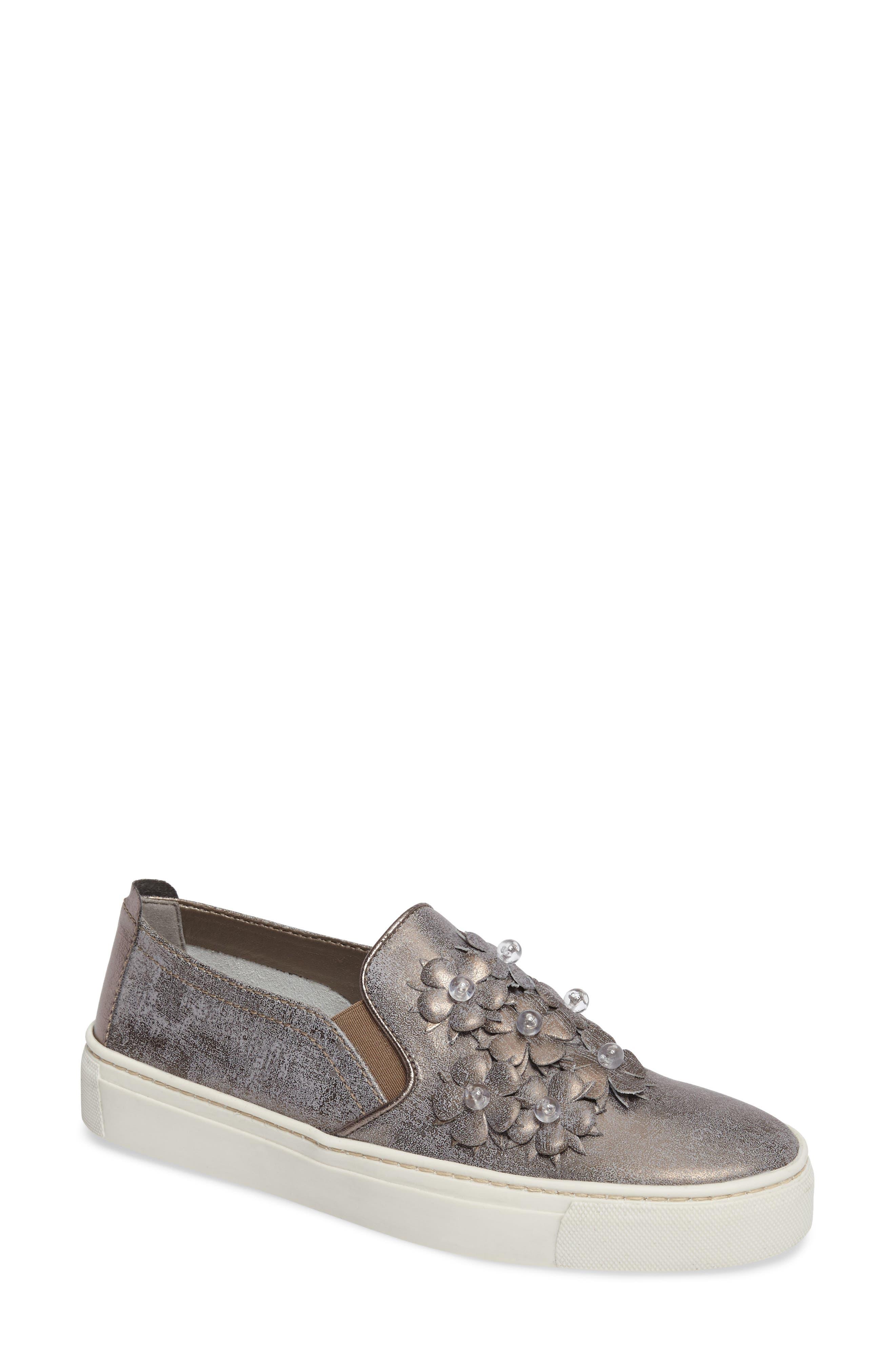 Sneak Blossom Slip-On Sneaker,                         Main,                         color, Gunmetal