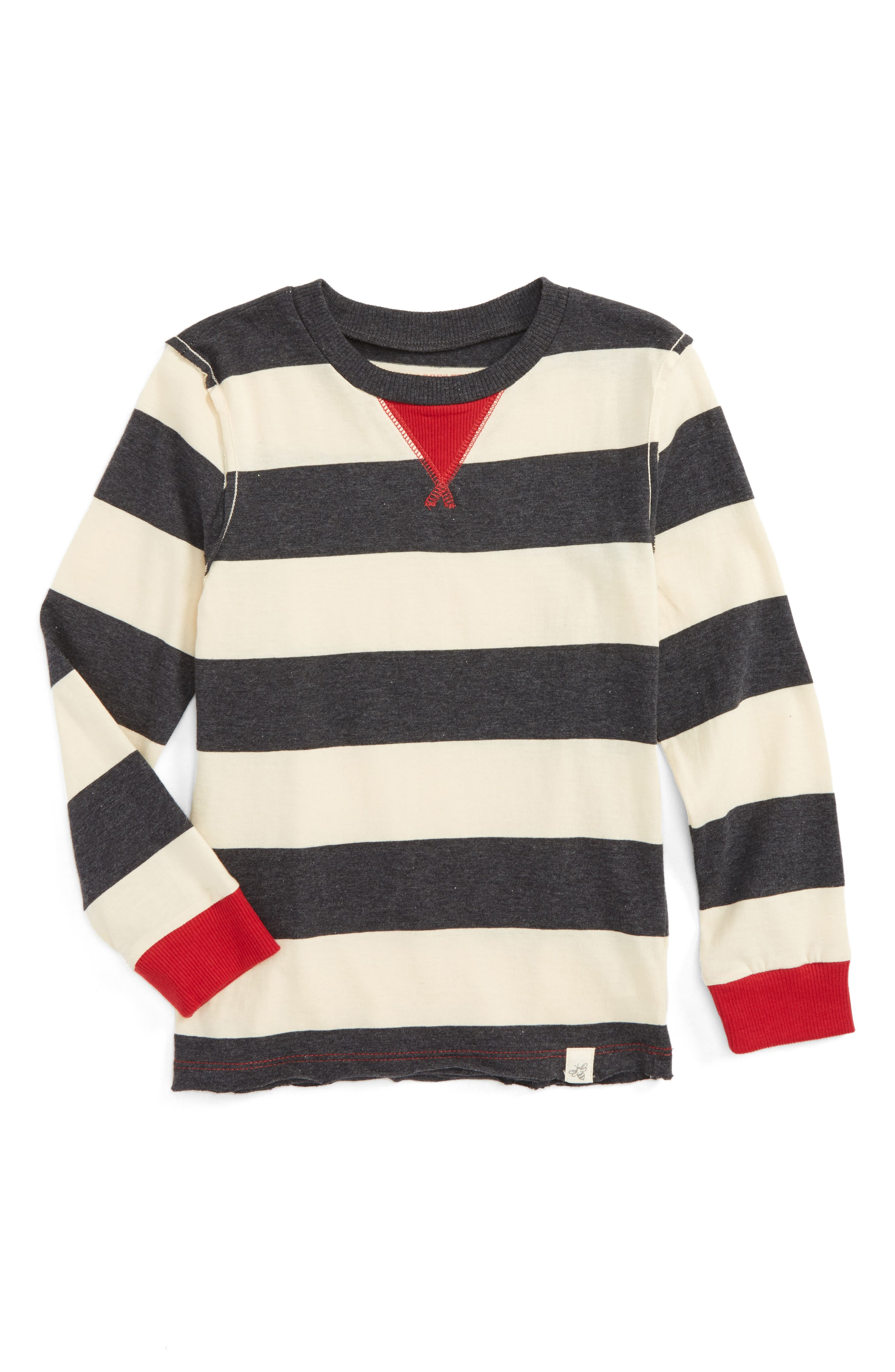 Burt's Bees Baby Stripe Long Sleeve T-Shirt (Toddler Boys & Little Boys)