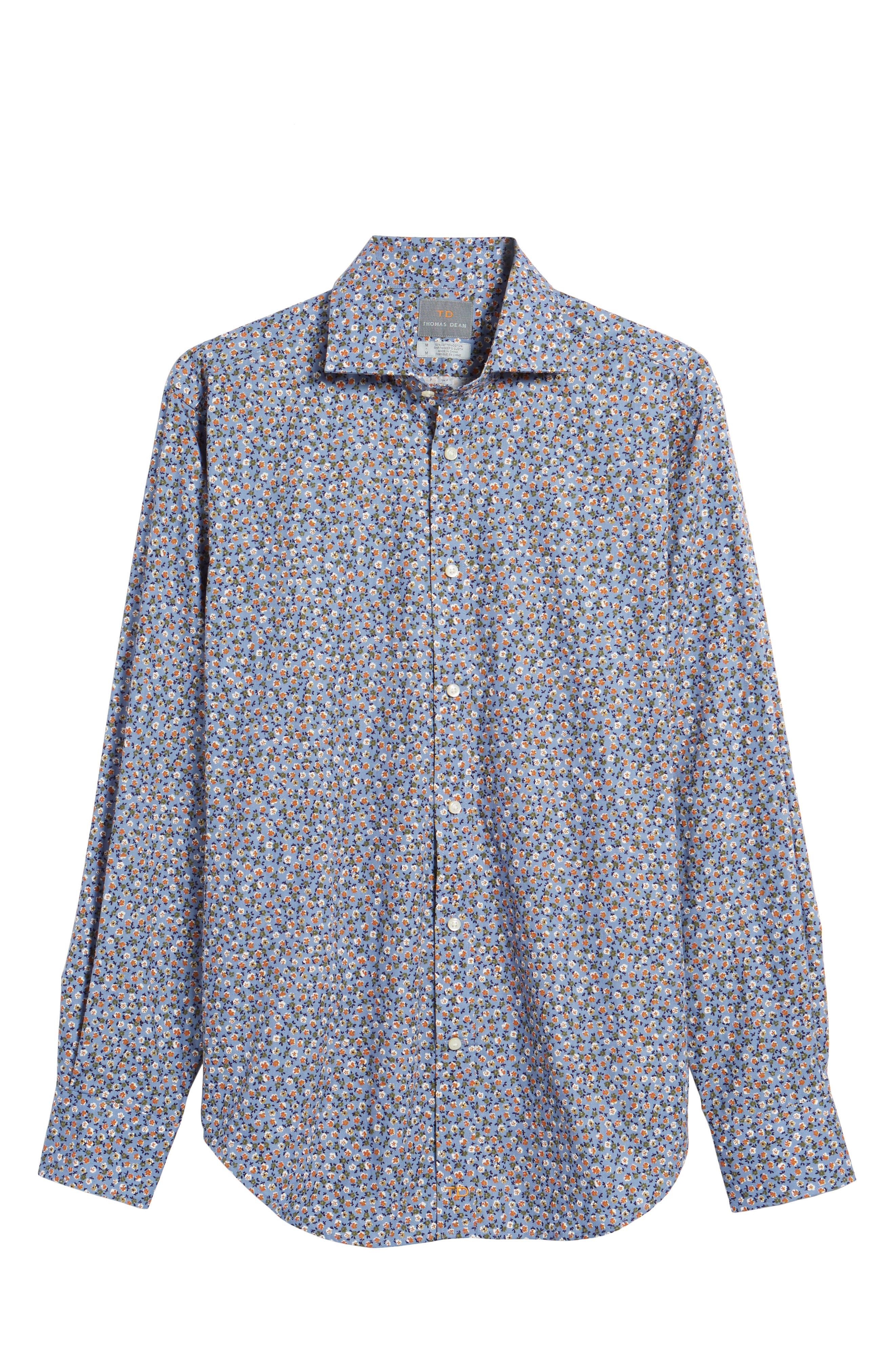 Alternate Image 6  - Thomas Dean Regular Fit Floral Print Sport Shirt