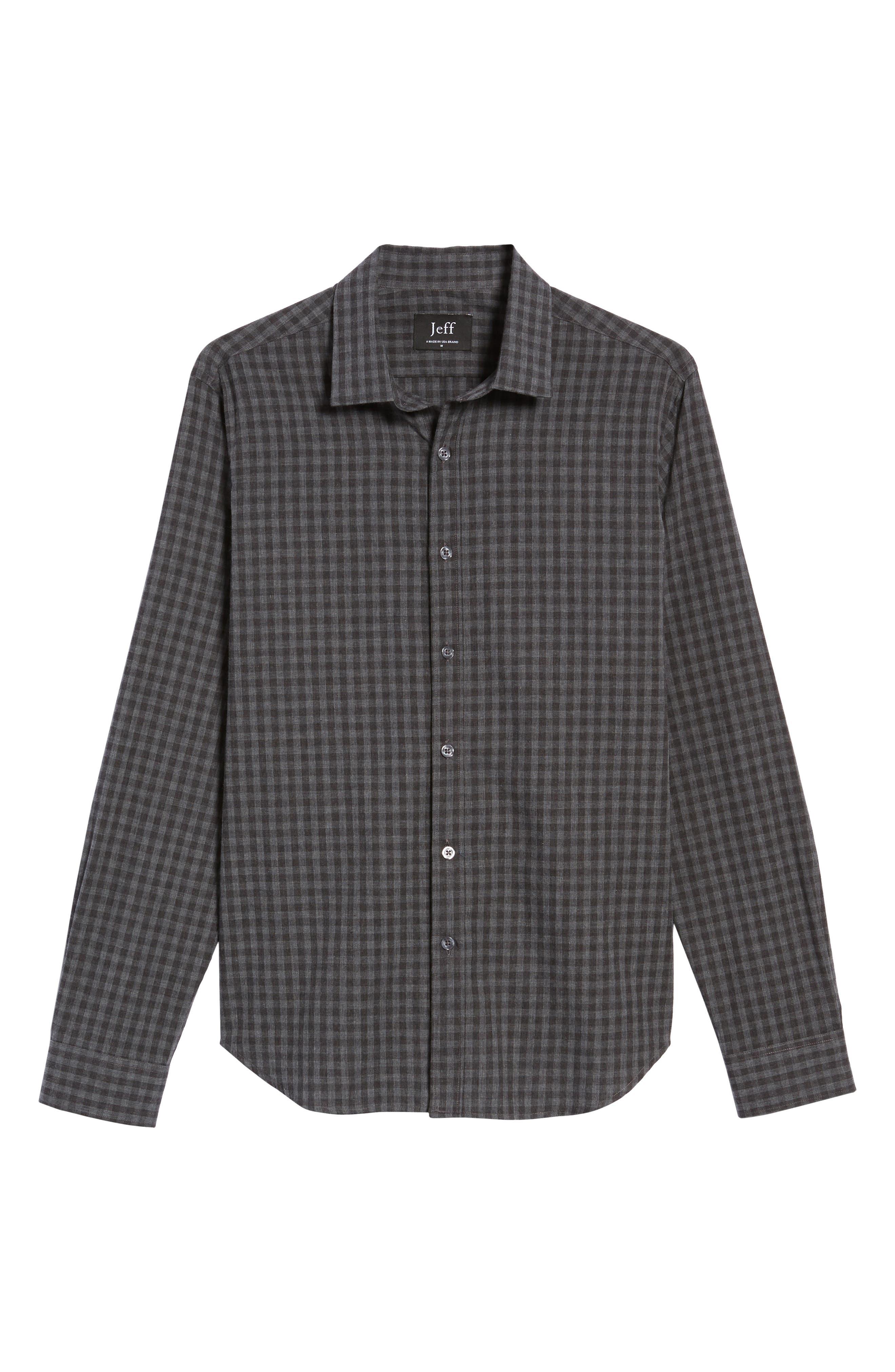 Slim Fit Print Sport Shirt,                             Alternate thumbnail 5, color,                             Grey