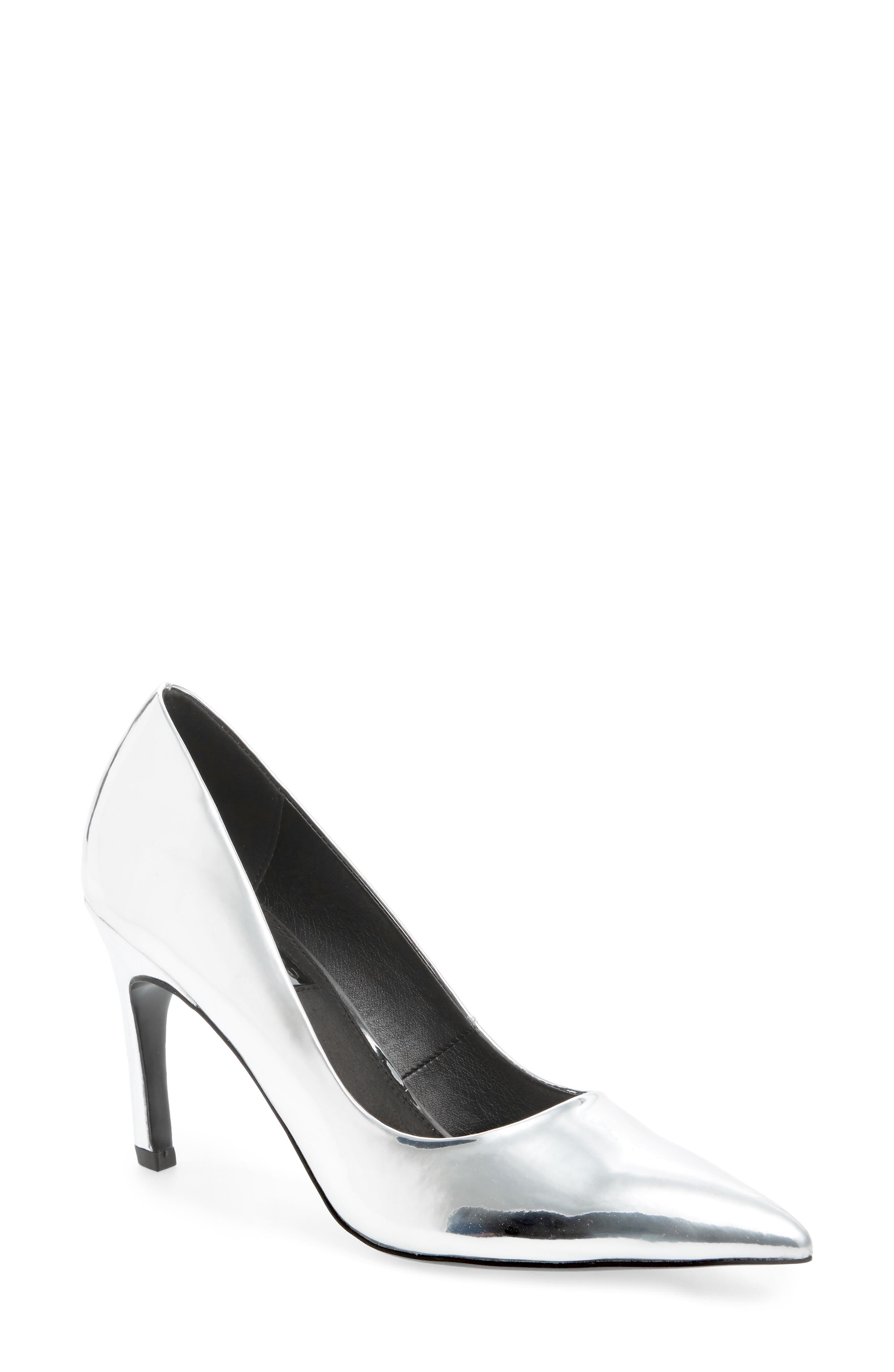 Topshop Glimpse Pointy Toe Pump (Women)