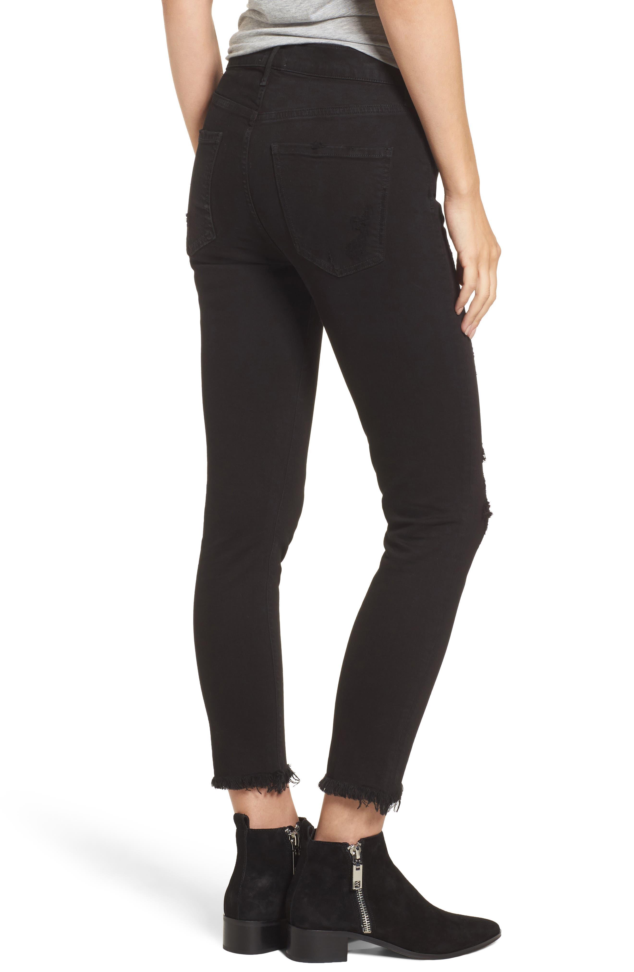 Sophie Crop High Rise Skinny Jeans,                             Alternate thumbnail 2, color,                             Harlow Destruct