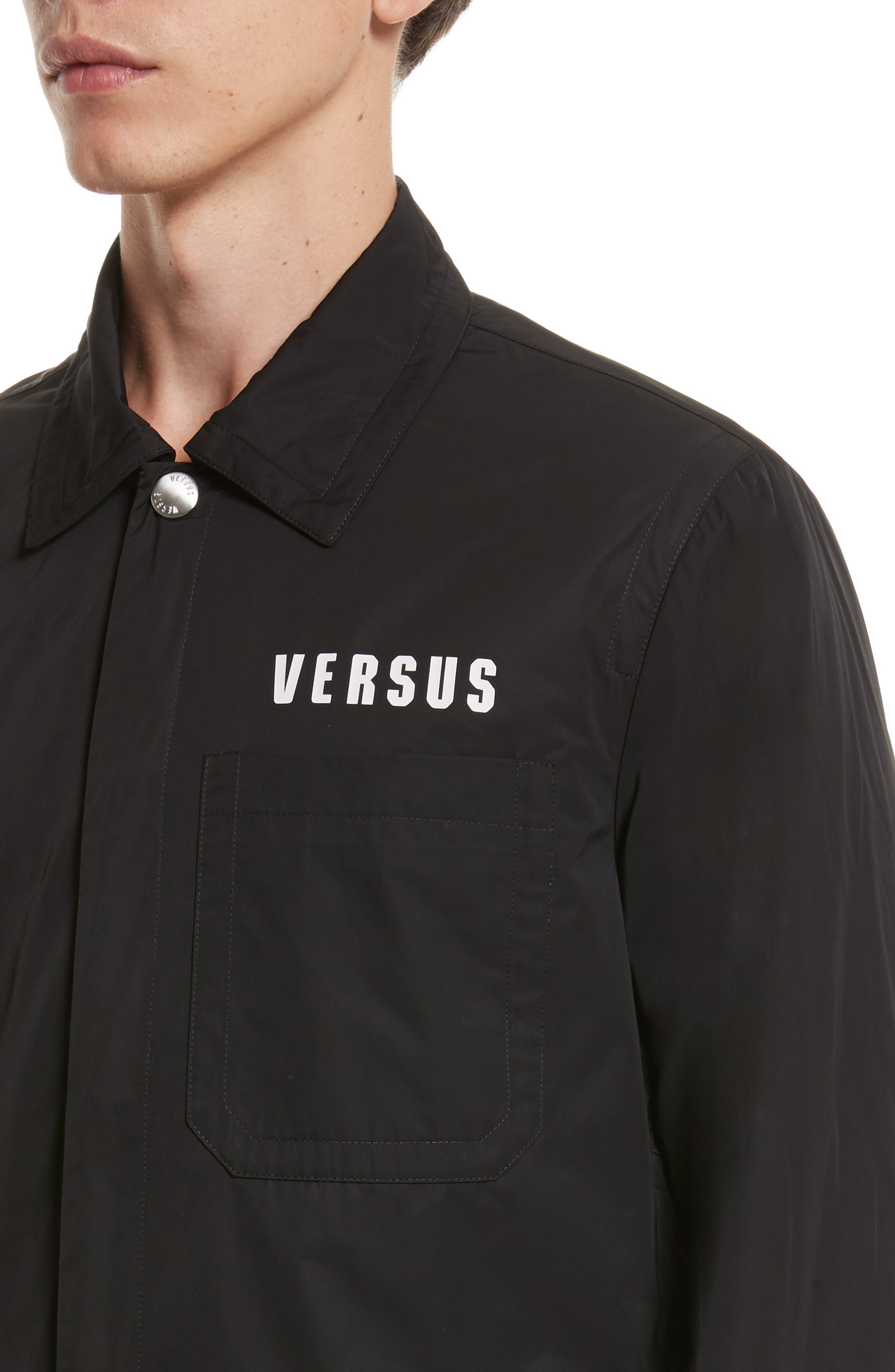 VERSUS by Versace Tech Jacket,                             Alternate thumbnail 4, color,                             Black