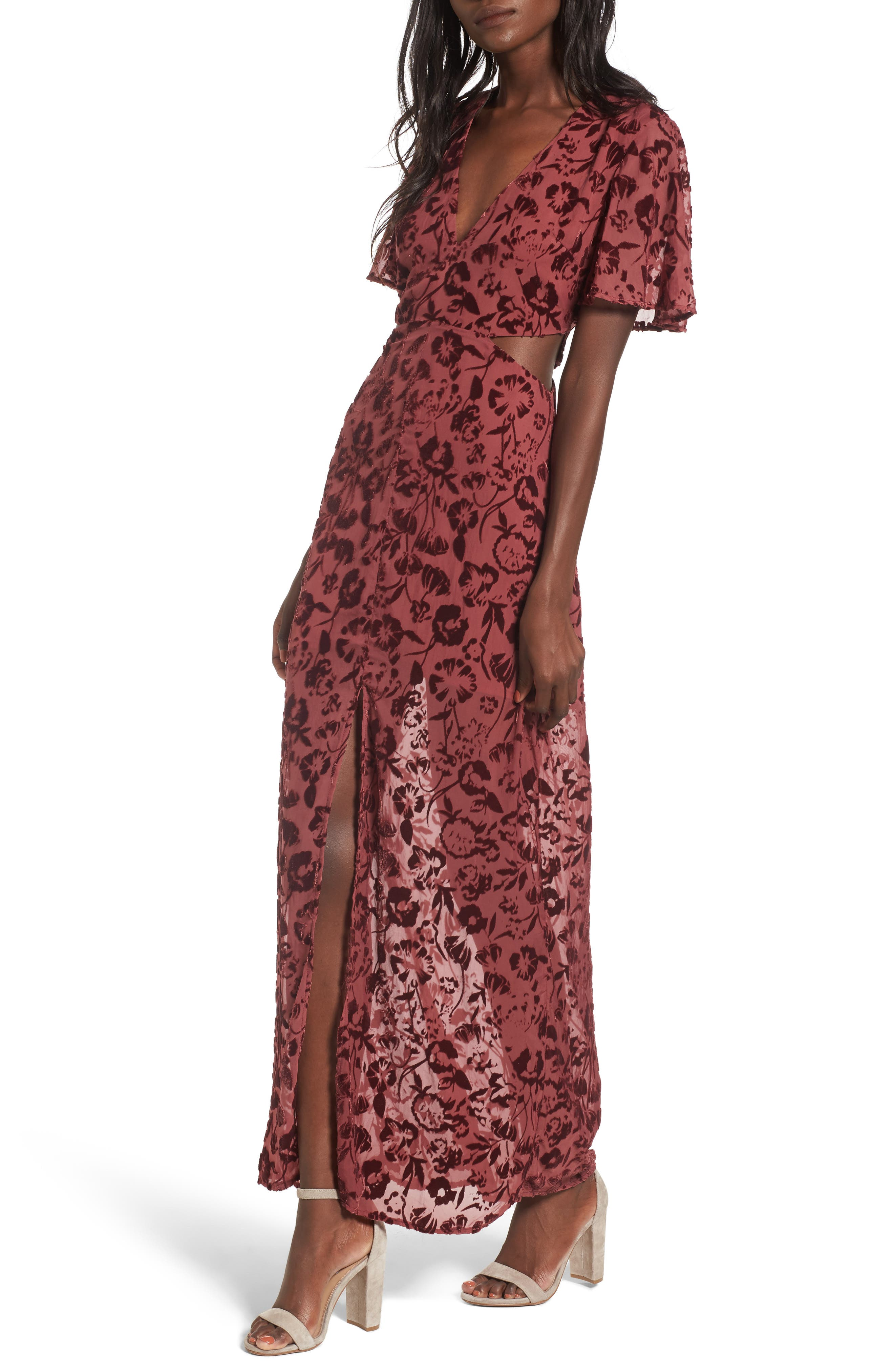 Lovers + Friends Tatum Cutout Maxi Dress