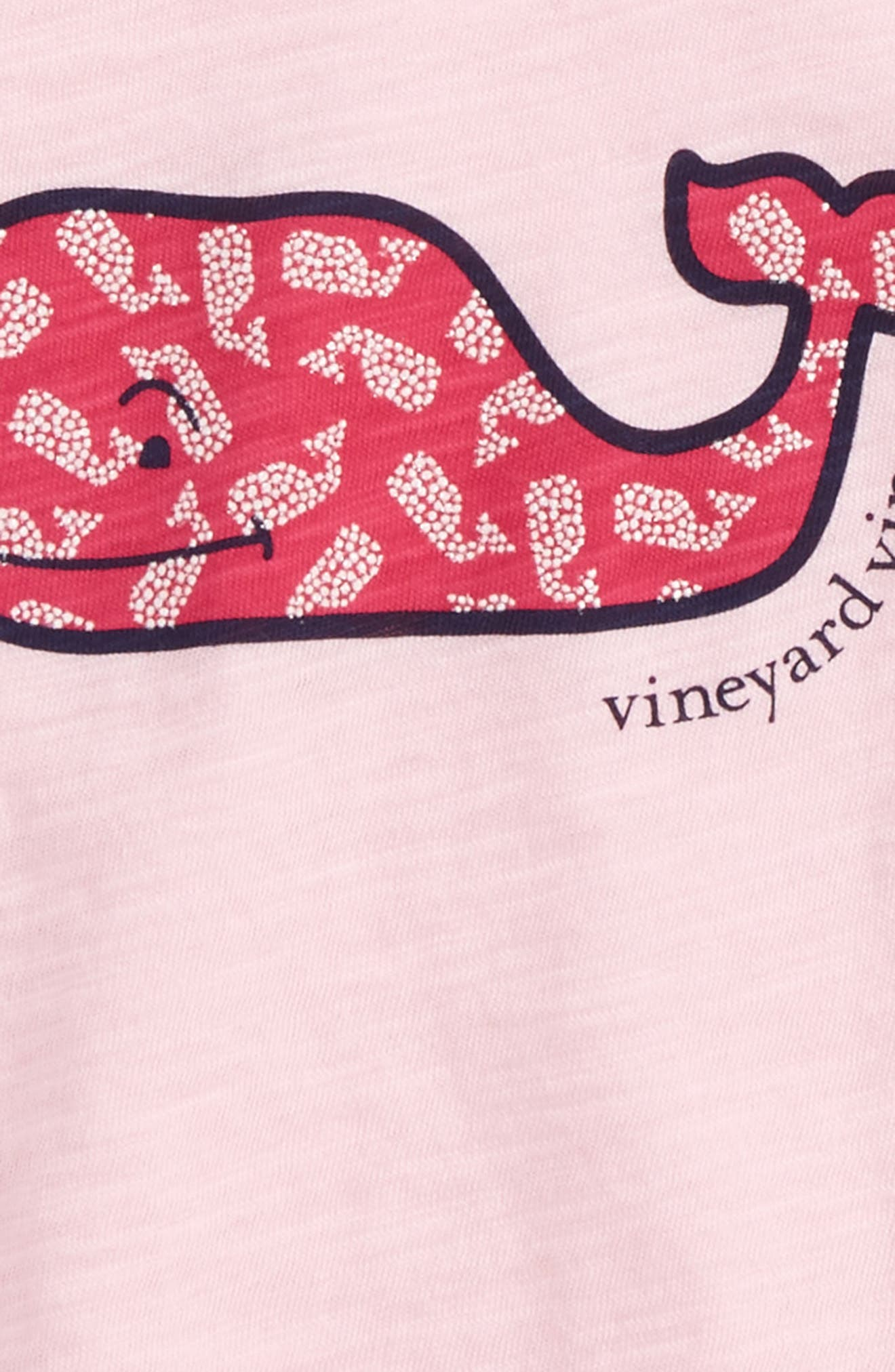 Polka Dot Whale Tee,                             Alternate thumbnail 2, color,                             Peony