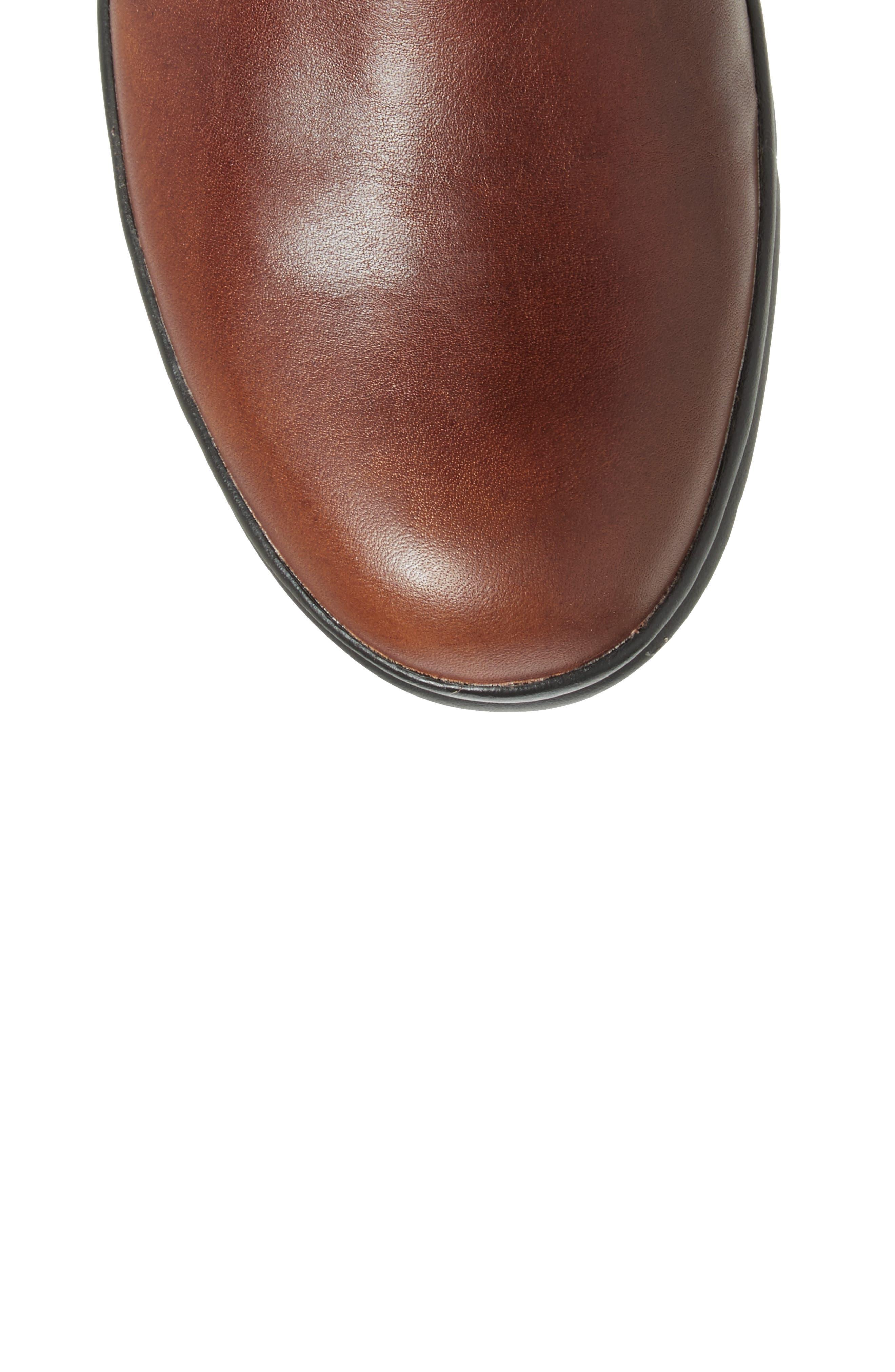 Turain Tall Waterproof Boot,                             Alternate thumbnail 5, color,                             Medium Brown Leather