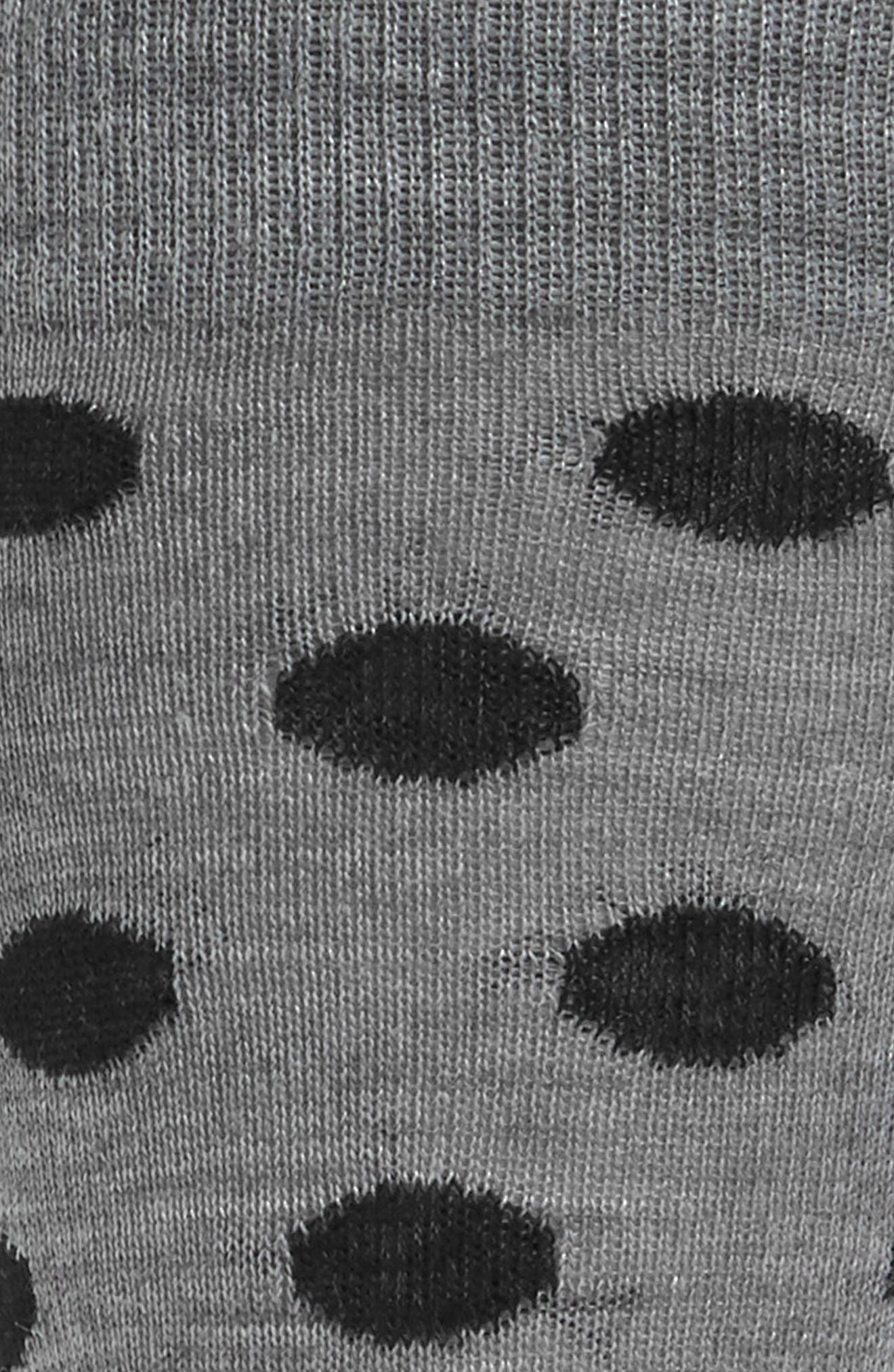 Dot Crew Socks,                             Alternate thumbnail 2, color,                             Light Grey