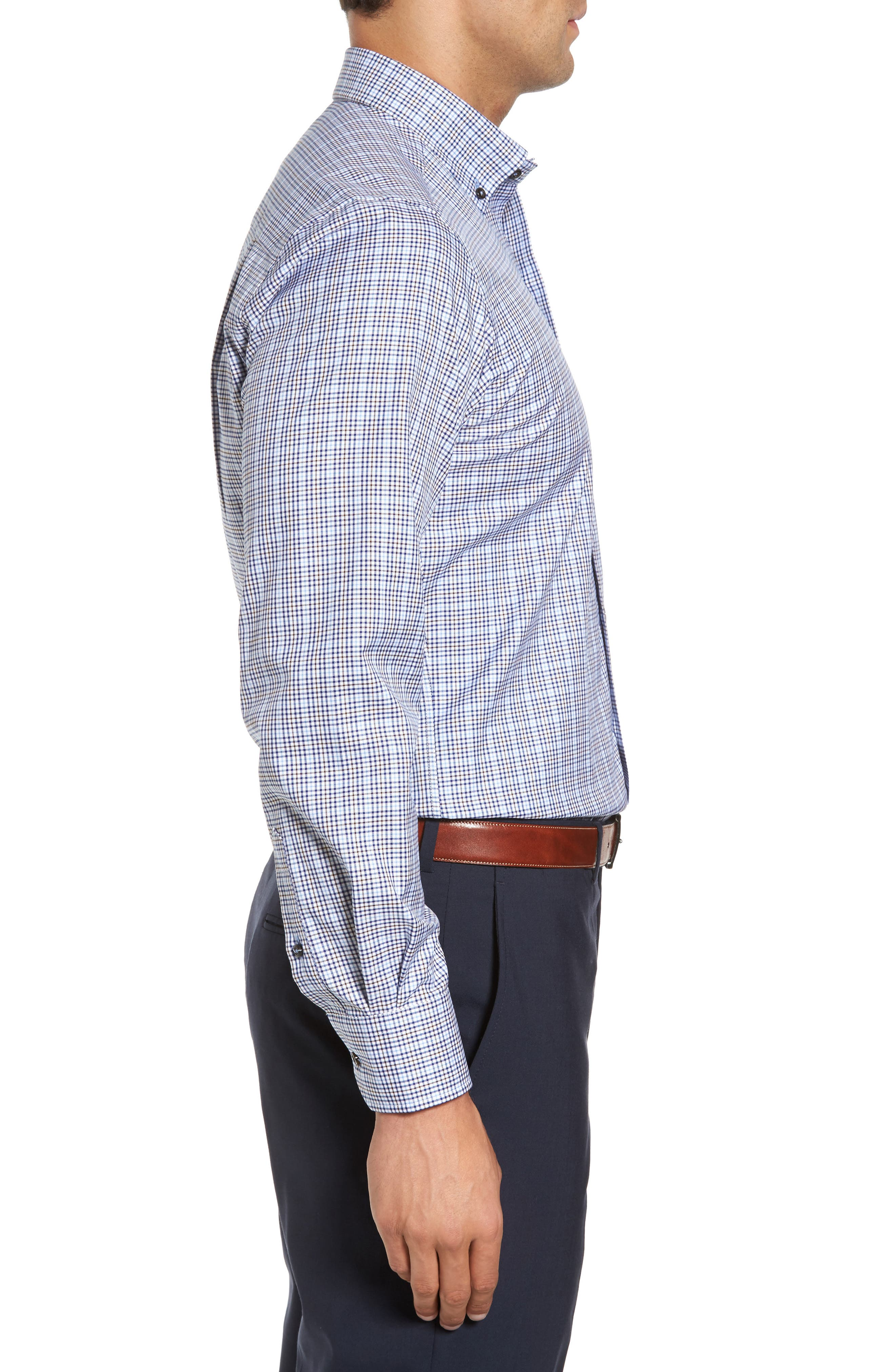 Alternate Image 3  - David Donahue Regular Fit Plaid Sport Shirt