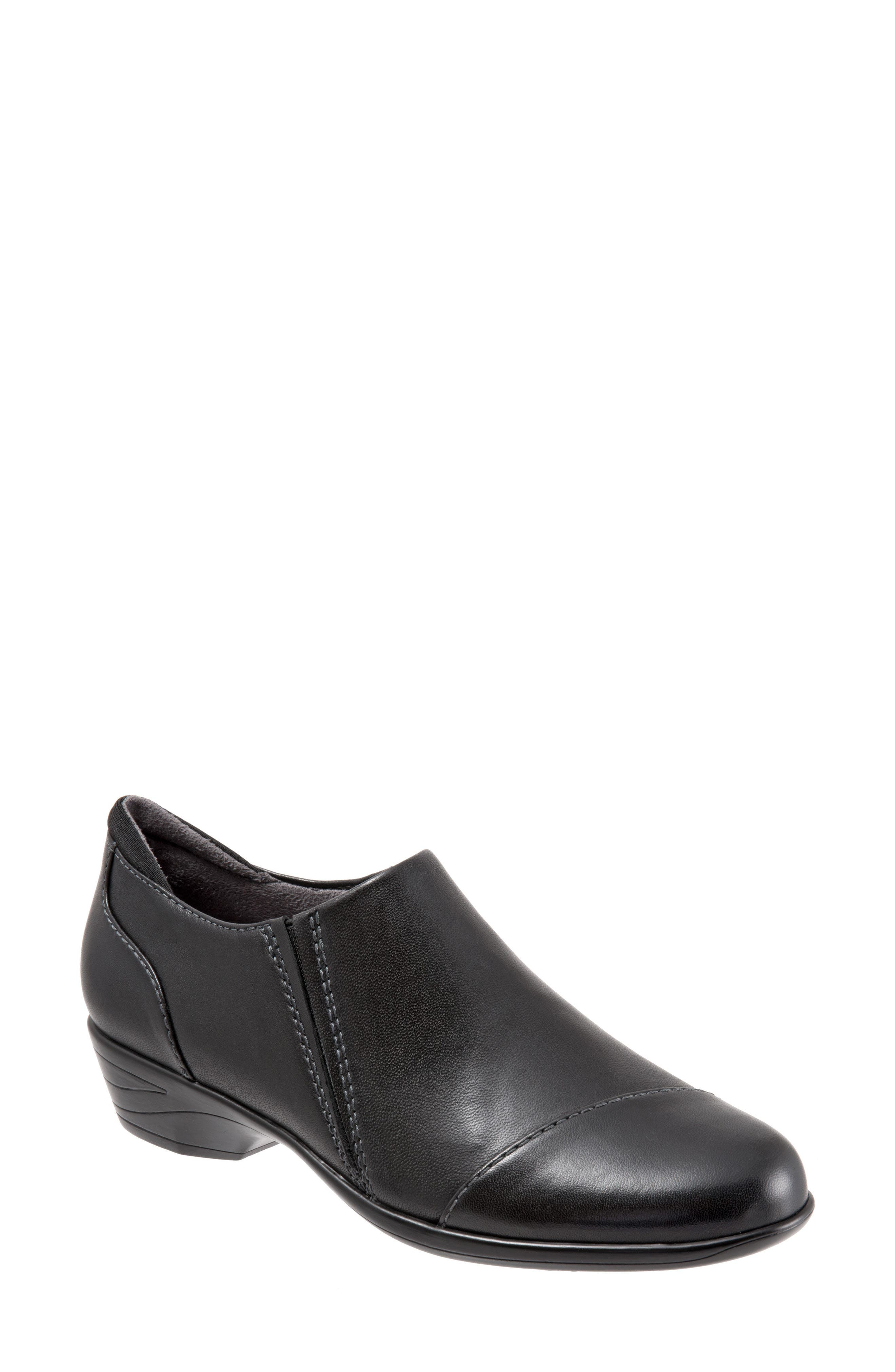 Charming Slip-On,                             Main thumbnail 1, color,                             Black Leather