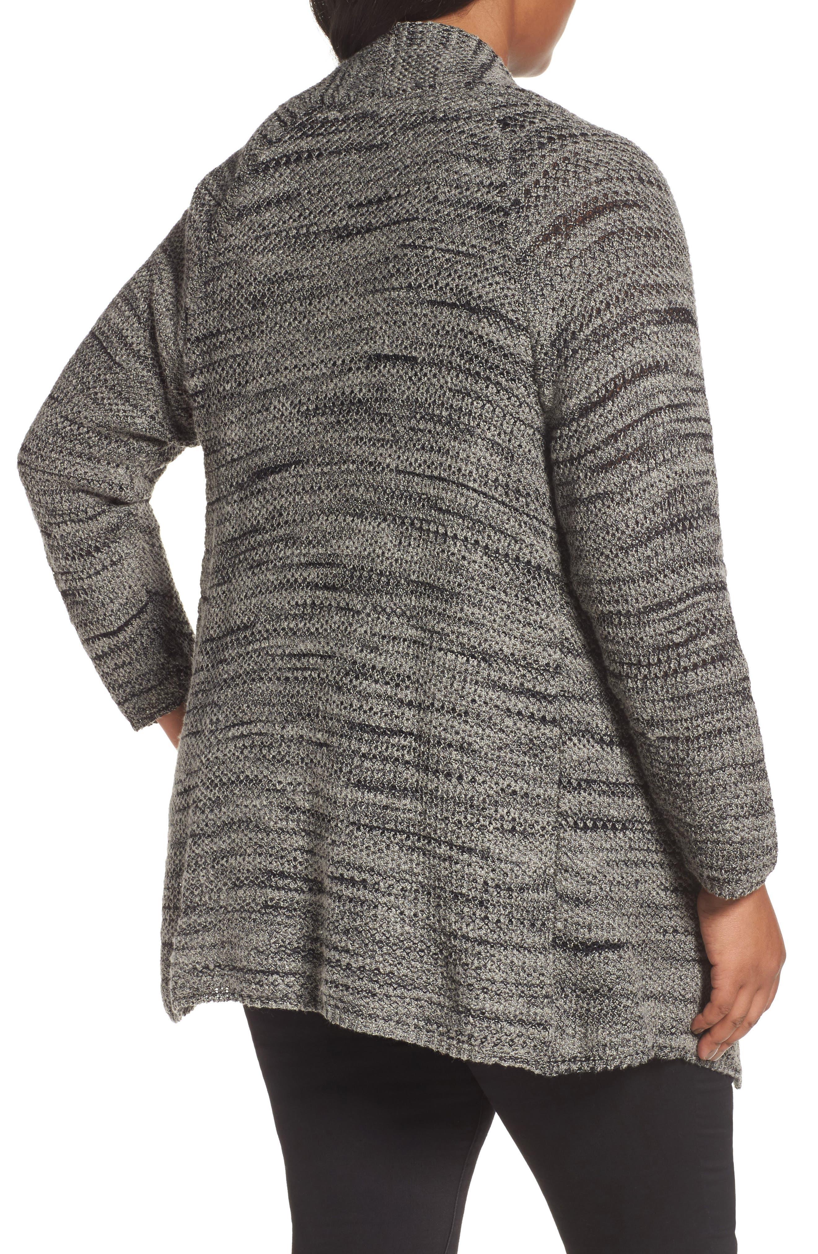 Alternate Image 2  - NIC+ZOE Thick & Thin Cardigan (Plus Size)