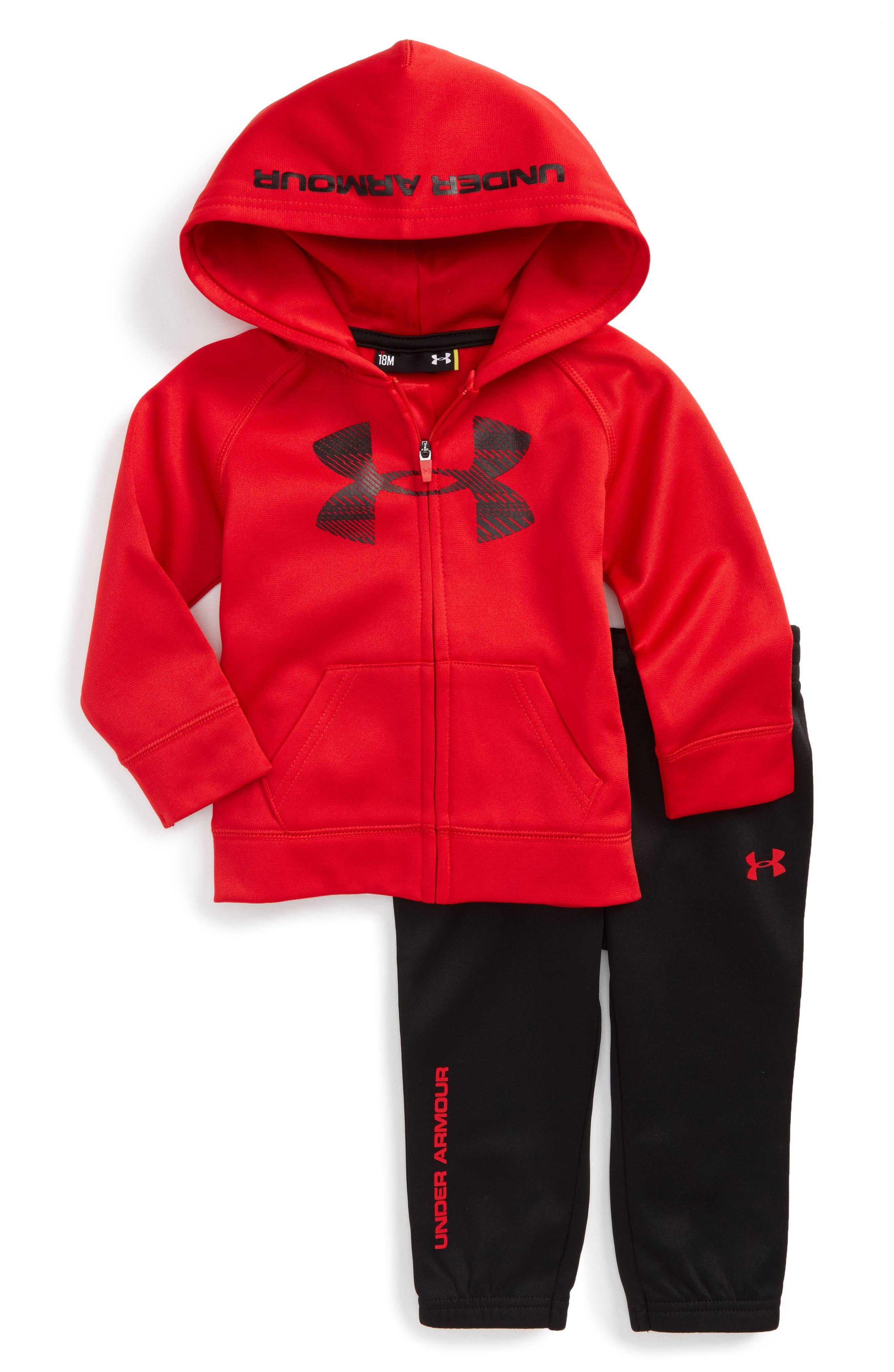 Under Armour Logo Hoodie & Pants Set (Baby Boys)