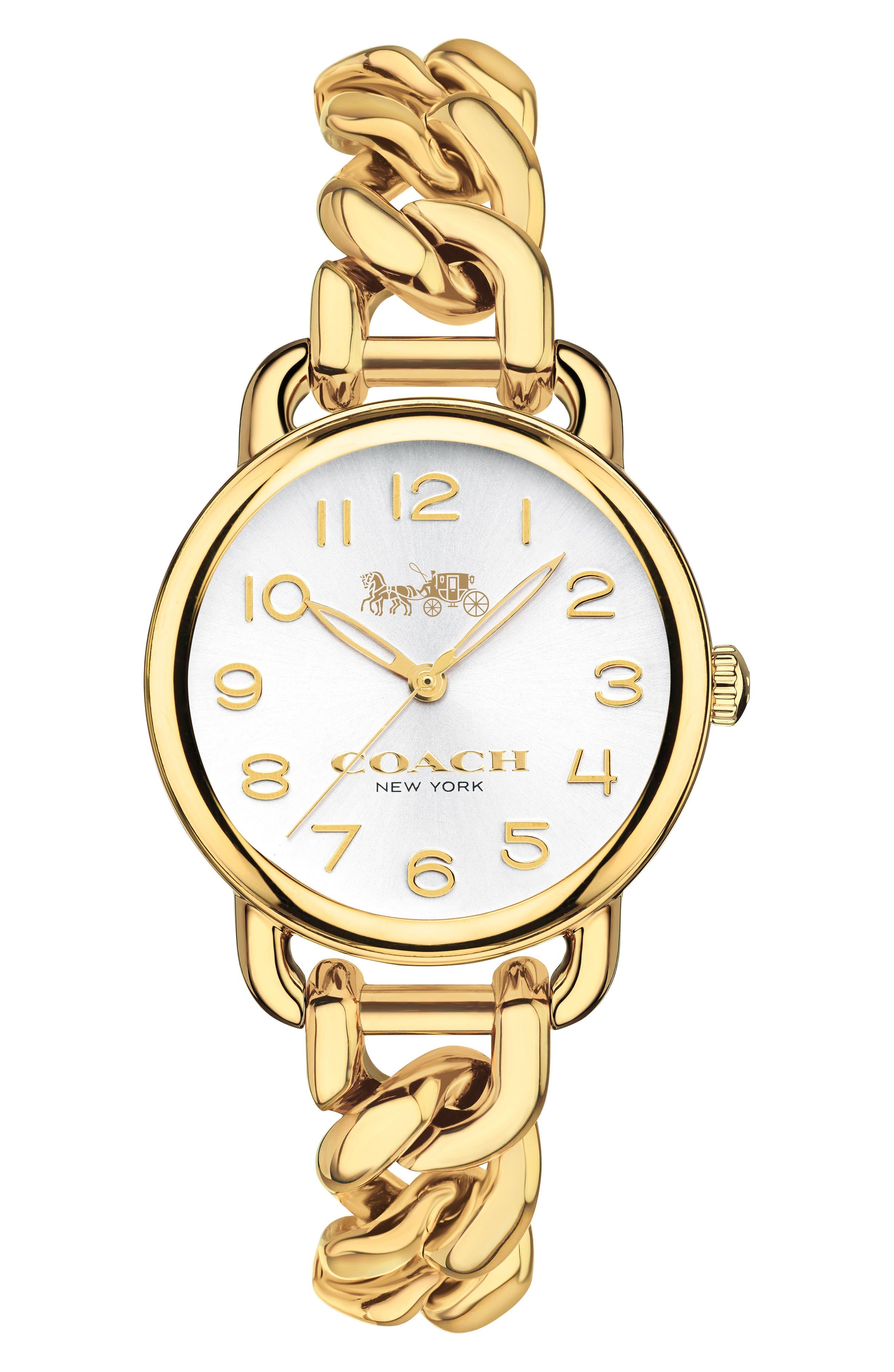 Main Image - COACH Delancey Chain Bracelet Watch, 28mm