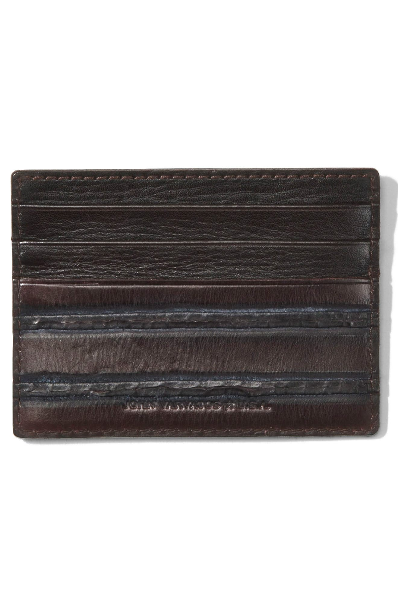 Alternate Image 2  - John Varvatos Star USA Leather Card Case