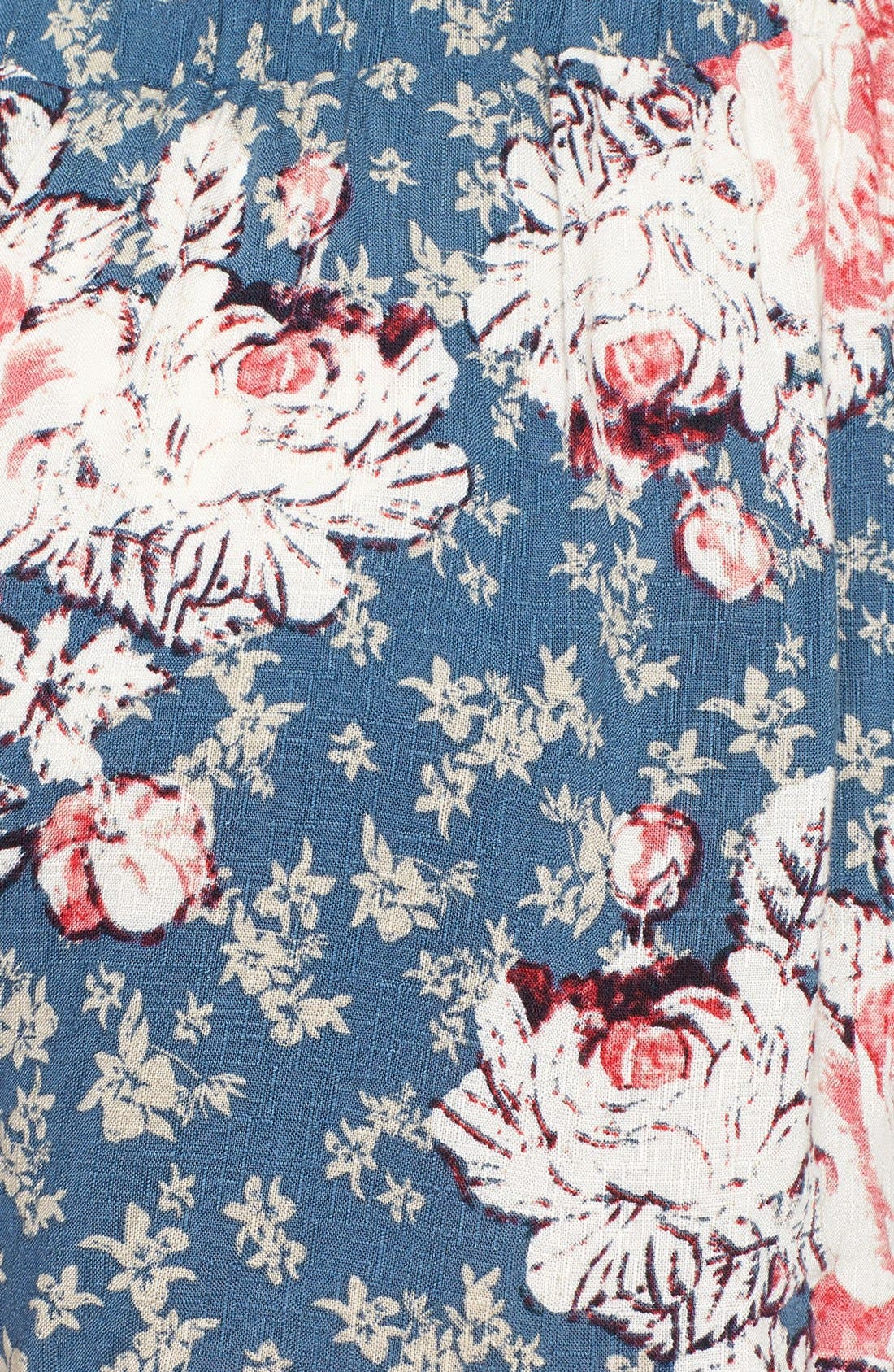 Alternate Image 3  - Free People 'Extreme Crossover' Floral Print Shorts