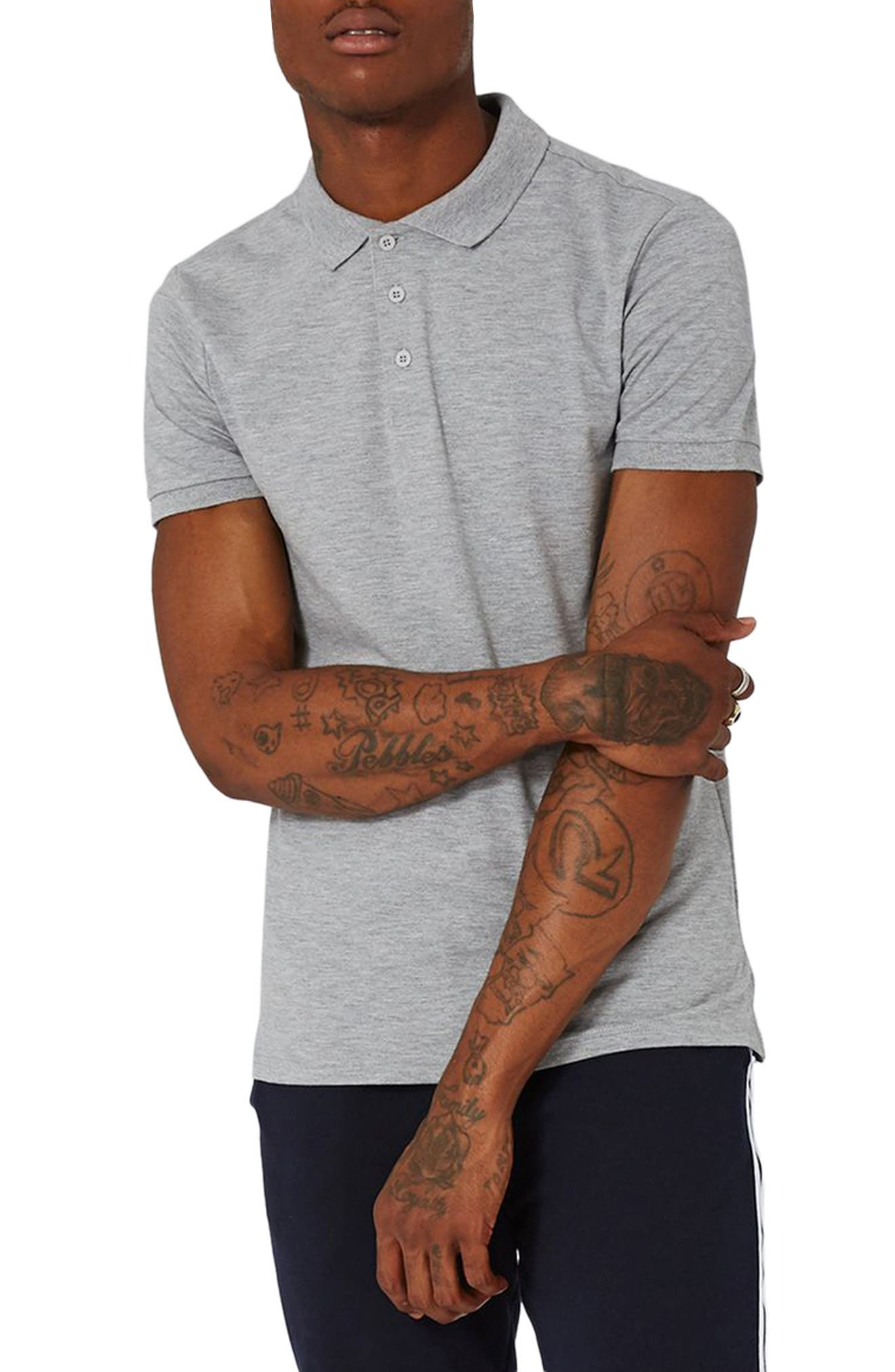 Alternate Image 1 Selected - Topman Muscle Fit Polo