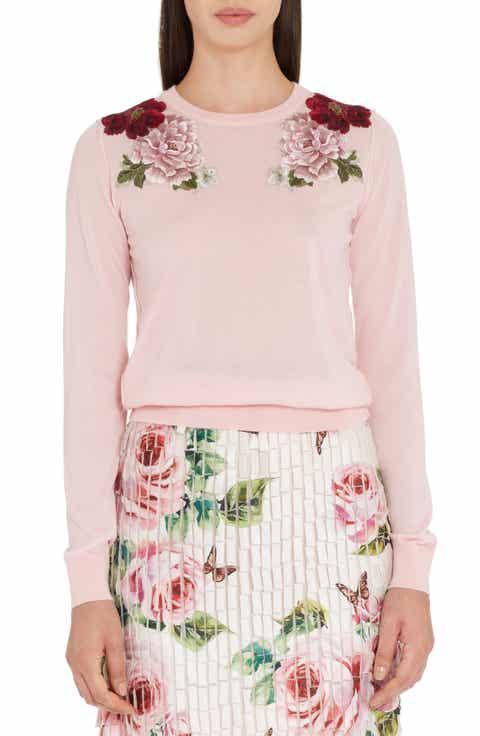Dolce&Gabbana Embroidered Cashmere Sweater