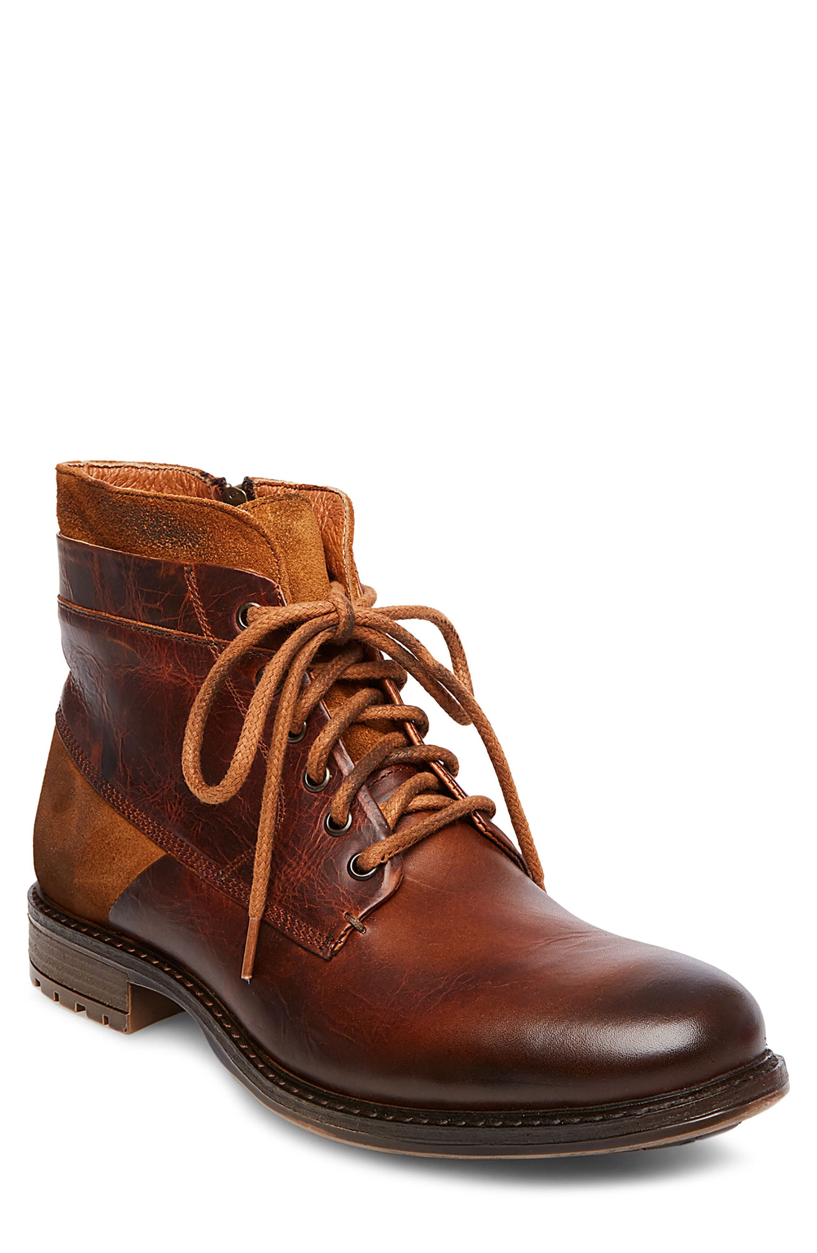 Steve Madden Hardin Plain Toe Boot (Men)