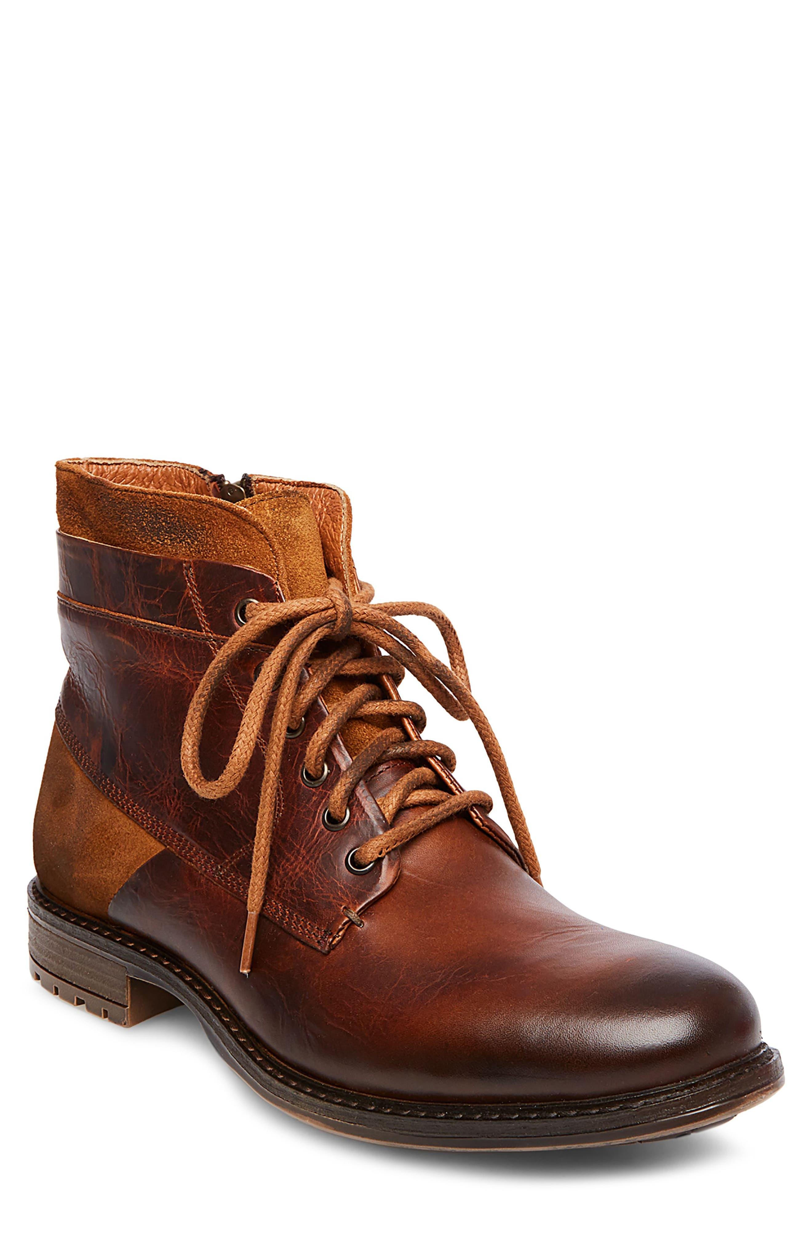 Steve Madden Hardin Plain Toe Boot (Men)