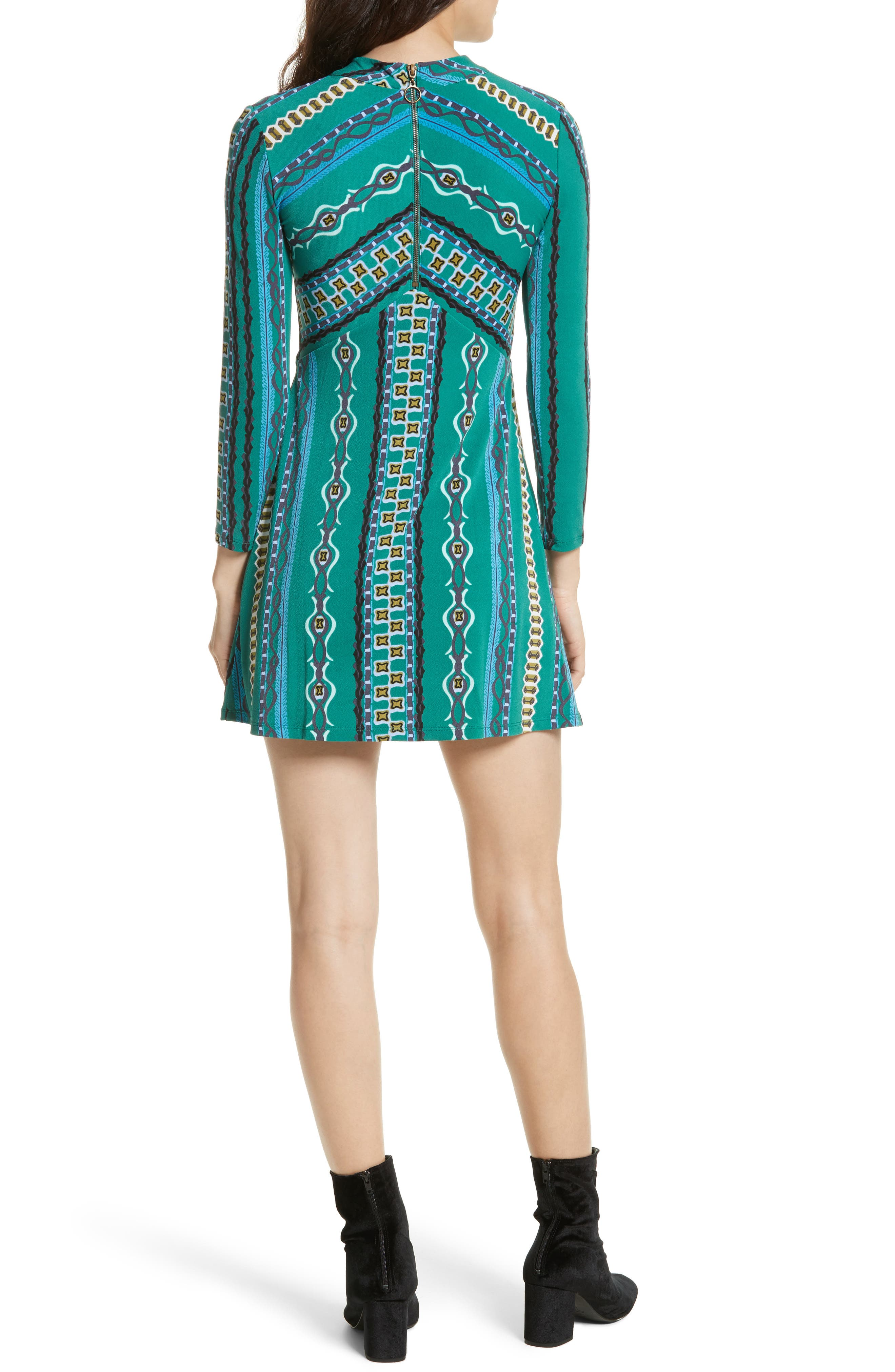 Alternate Image 2  - Free People 'Stella' Graphic Print Minidress