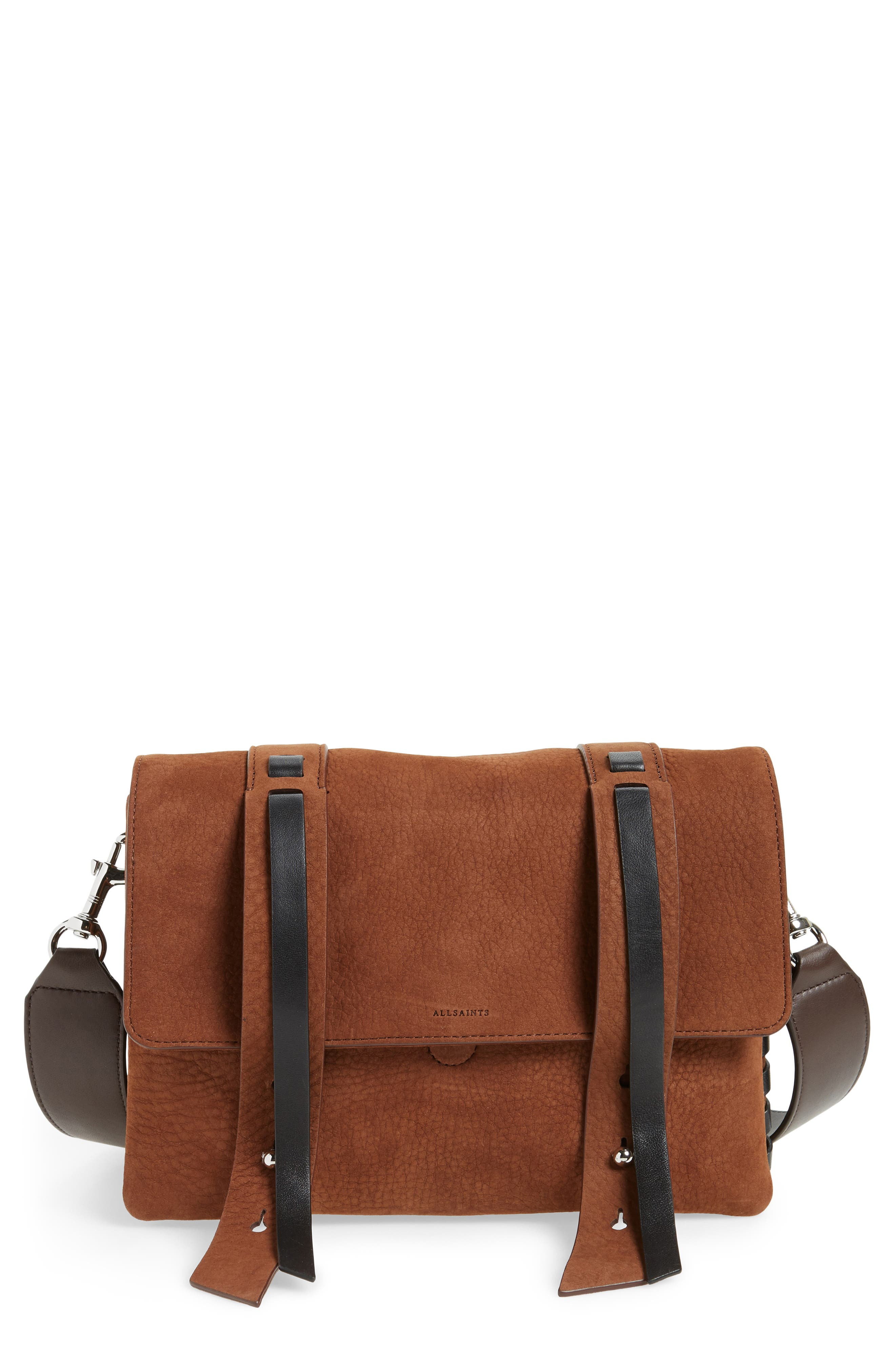 ALLSAINTS Fin Leather Box Bag