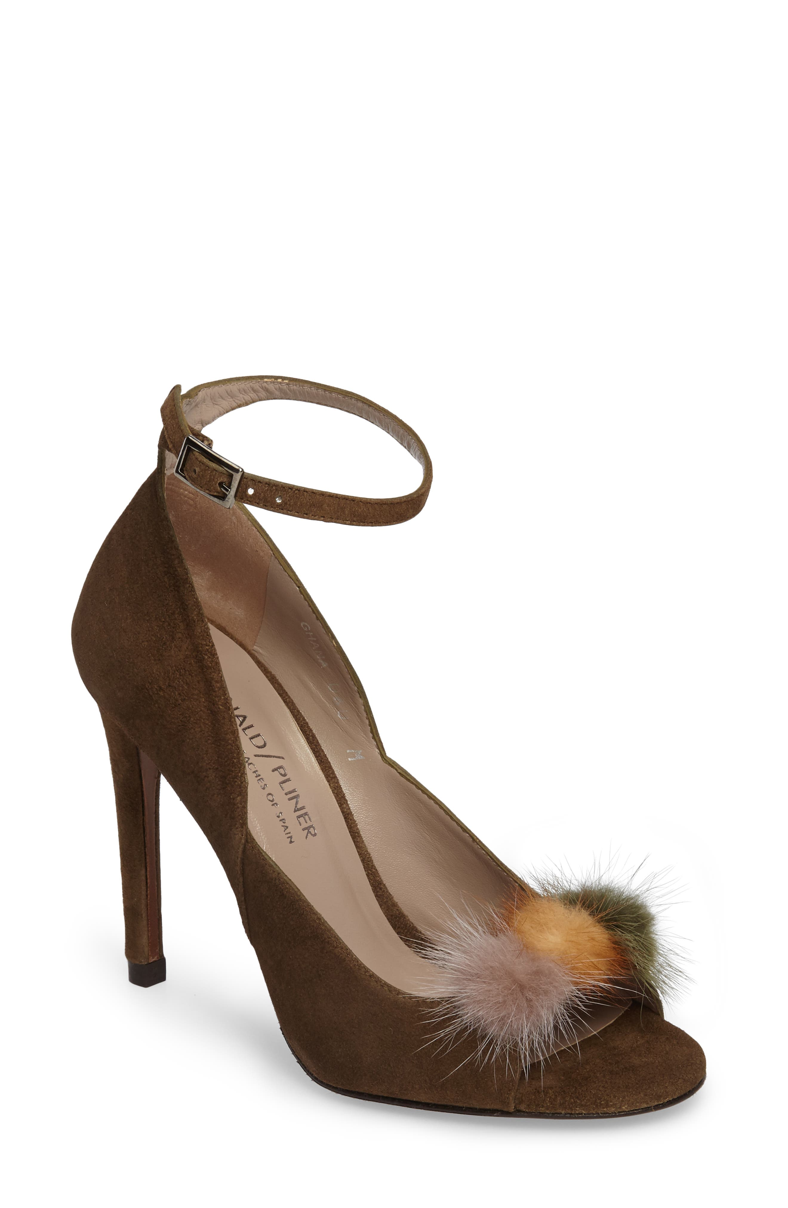 Alternate Image 1 Selected - Donald J Pliner Genuine Mink Fur Pump (Women)