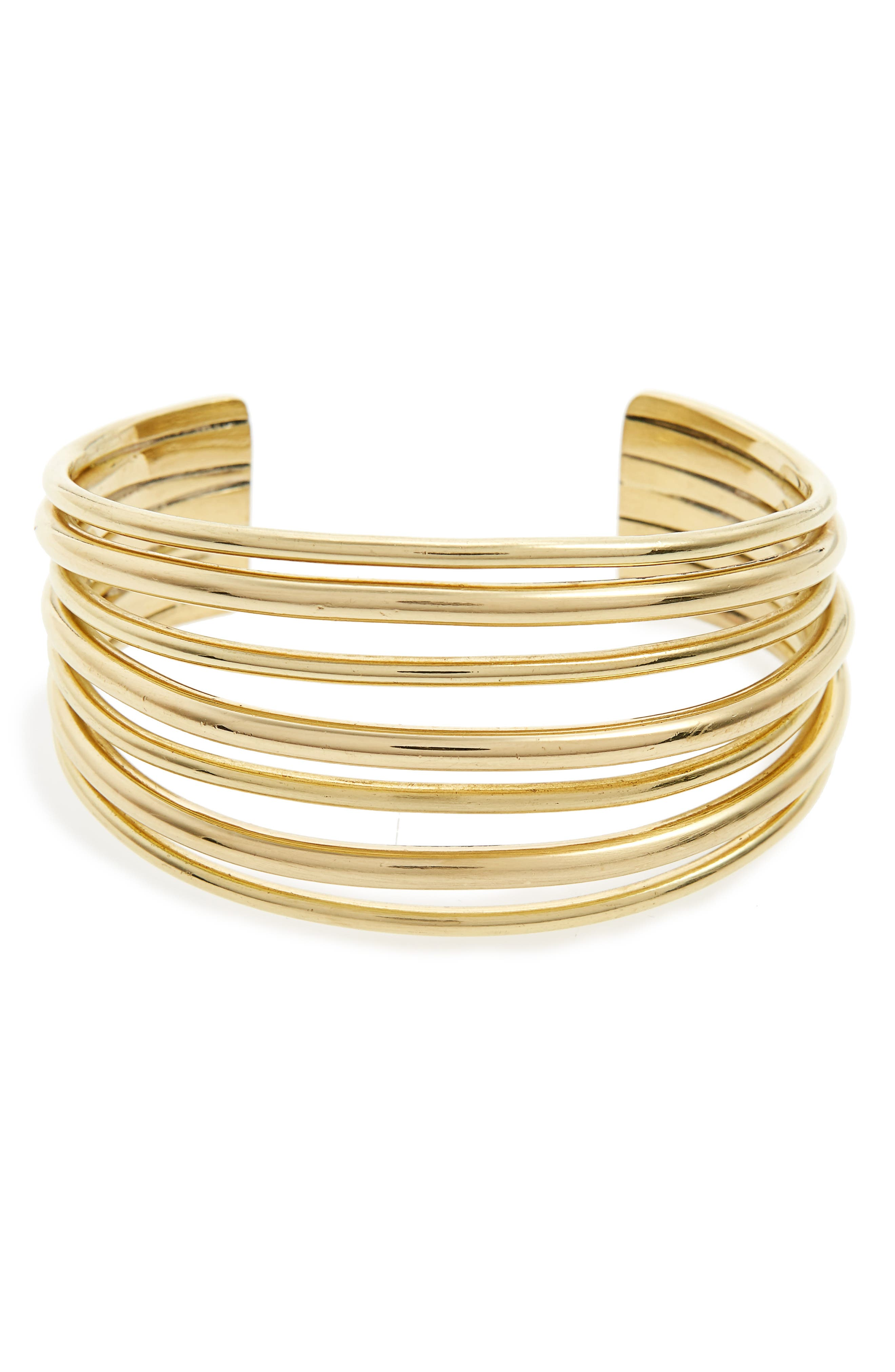 Layered Cuff,                         Main,                         color, Brass