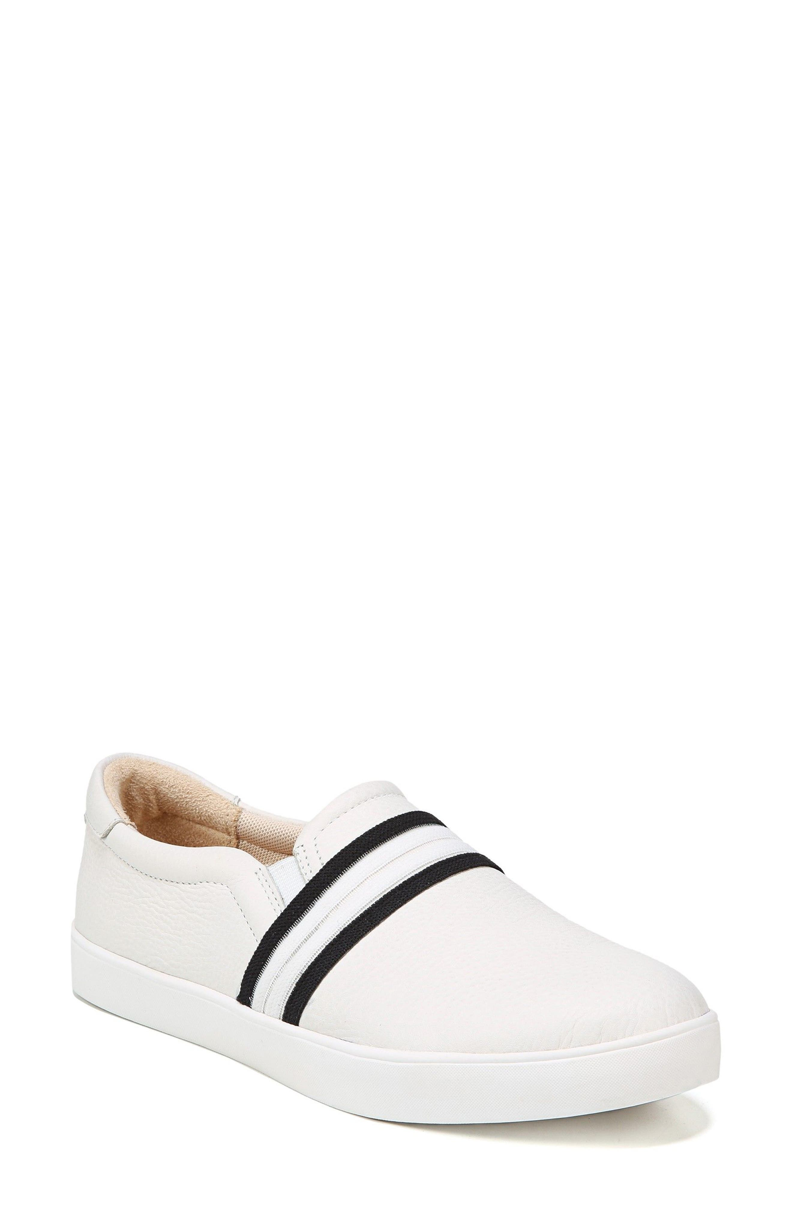 Scout Slip-On Sneaker,                             Main thumbnail 1, color,                             White Leather