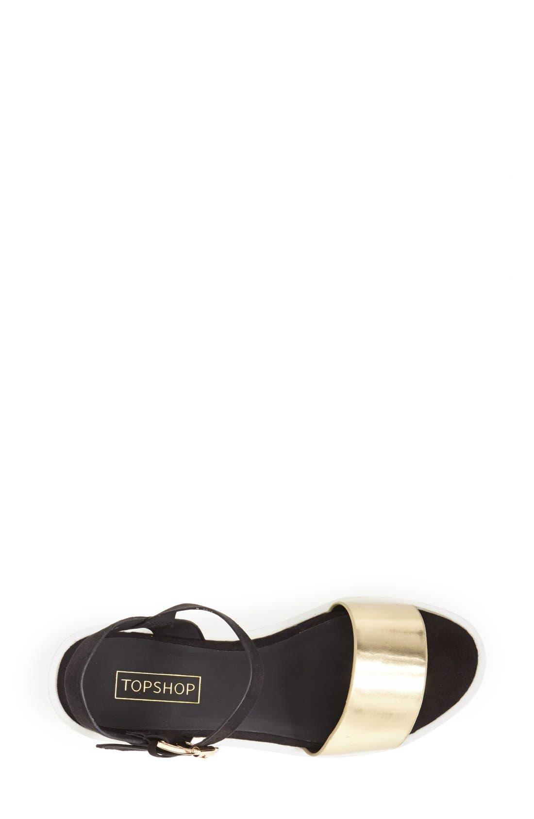 Alternate Image 3  - Topshop 'Honey' Ankle Strap Wedge Platform Sandal (Women)