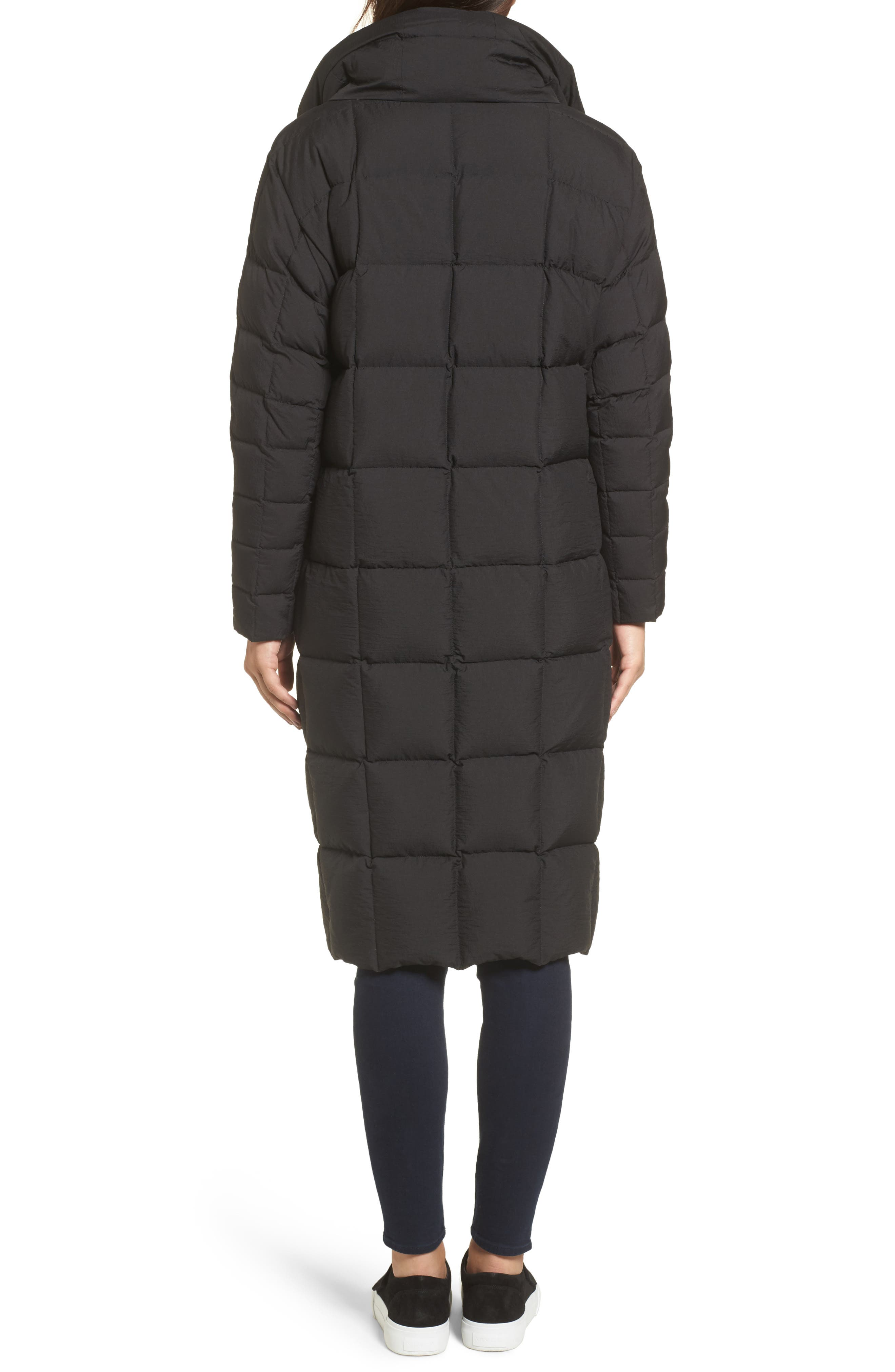 Carley Packable Long Coat,                             Alternate thumbnail 2, color,                             Black