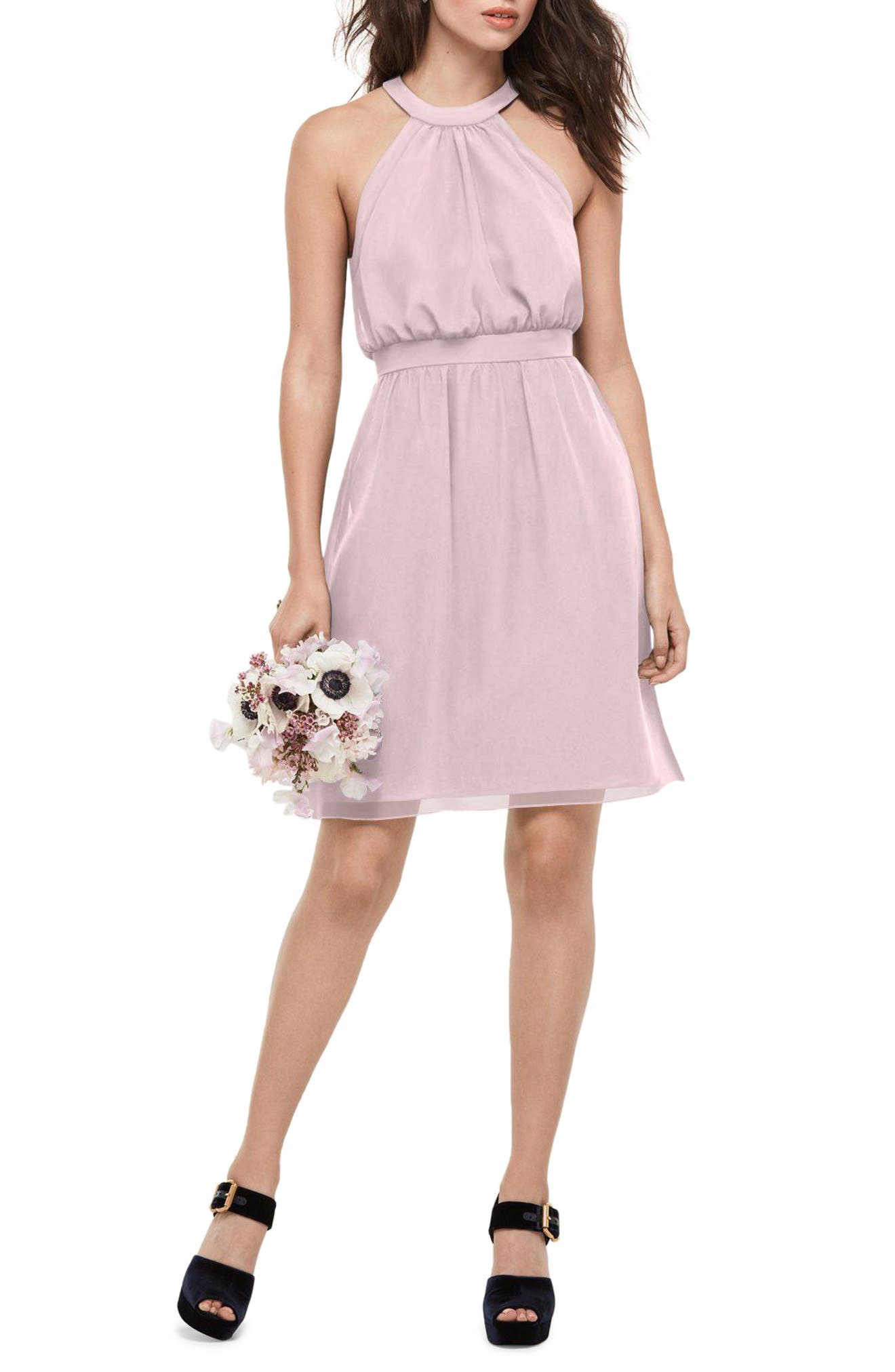 Alternate Image 1 Selected - WTOO Blouson Chiffon Dress